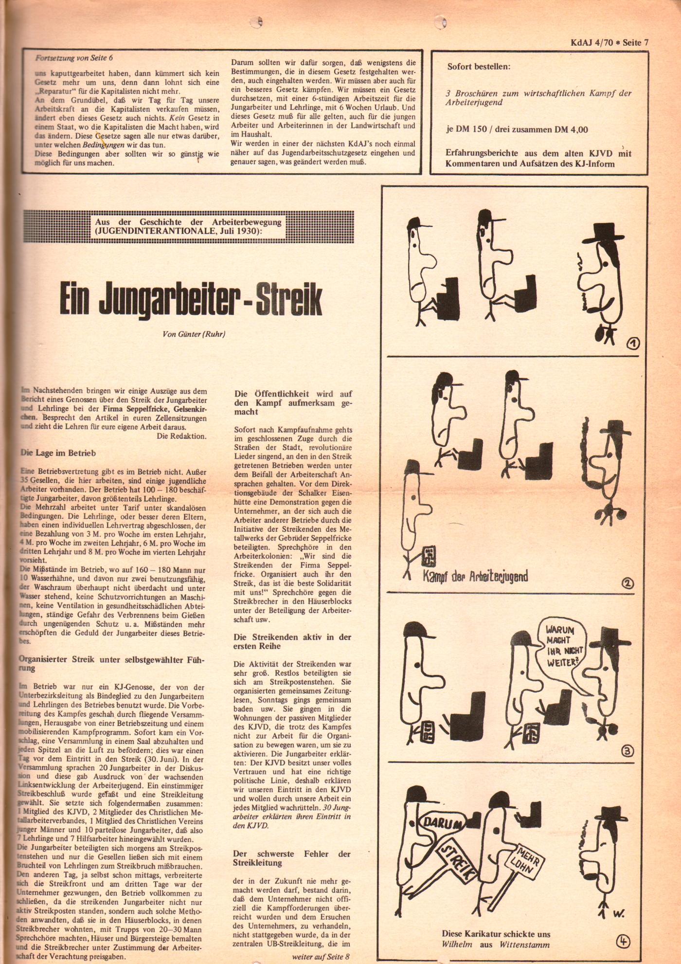 KDAJ, 1. Jg., September 1970, Nr. 4, Seite 7
