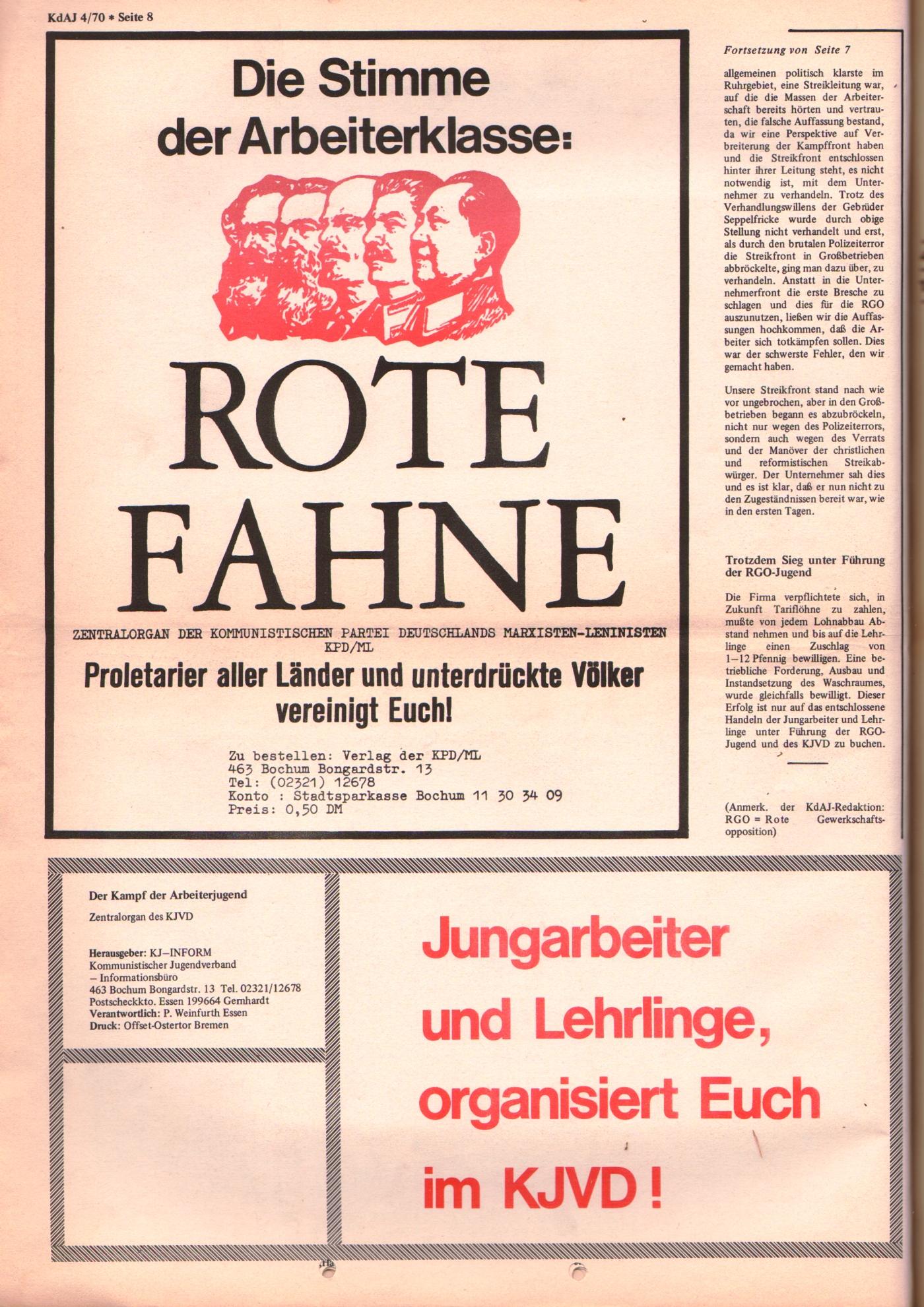 KDAJ, 1. Jg., September 1970, Nr. 4, Seite 8