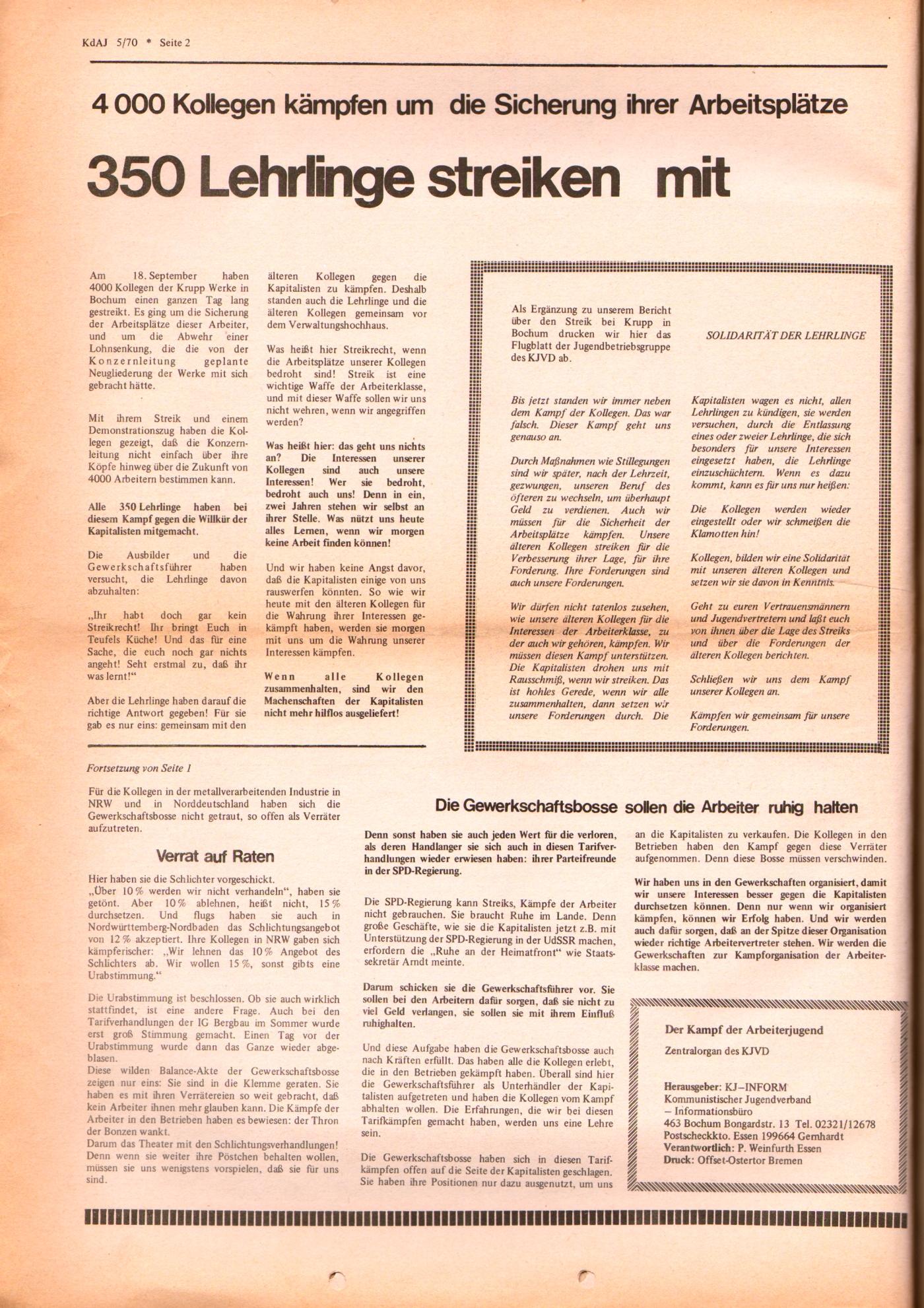 KDAJ, 1. Jg., November 1970, Nr. 5, Seite 2