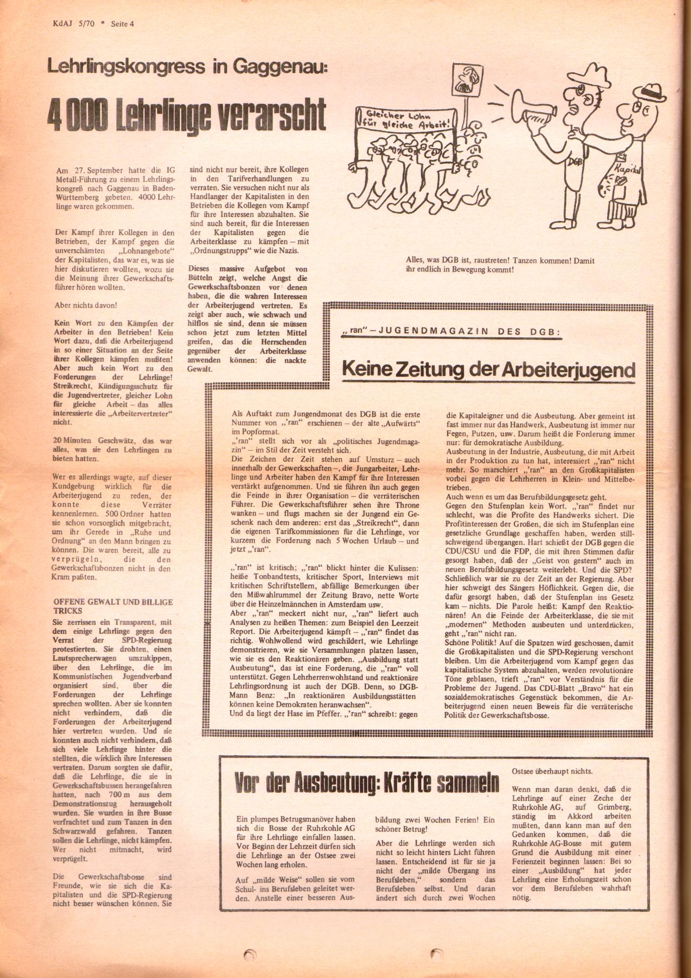 KDAJ, 1. Jg., November 1970, Nr. 5, Seite 4