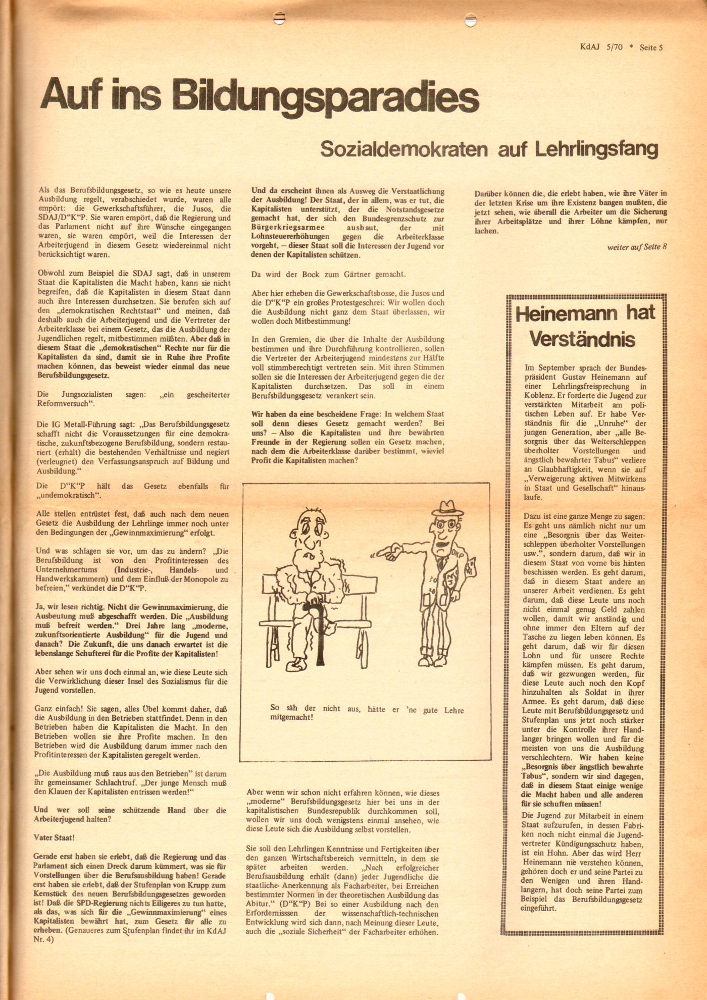 KDAJ, 1. Jg., November 1970, Nr. 5, Seite 5