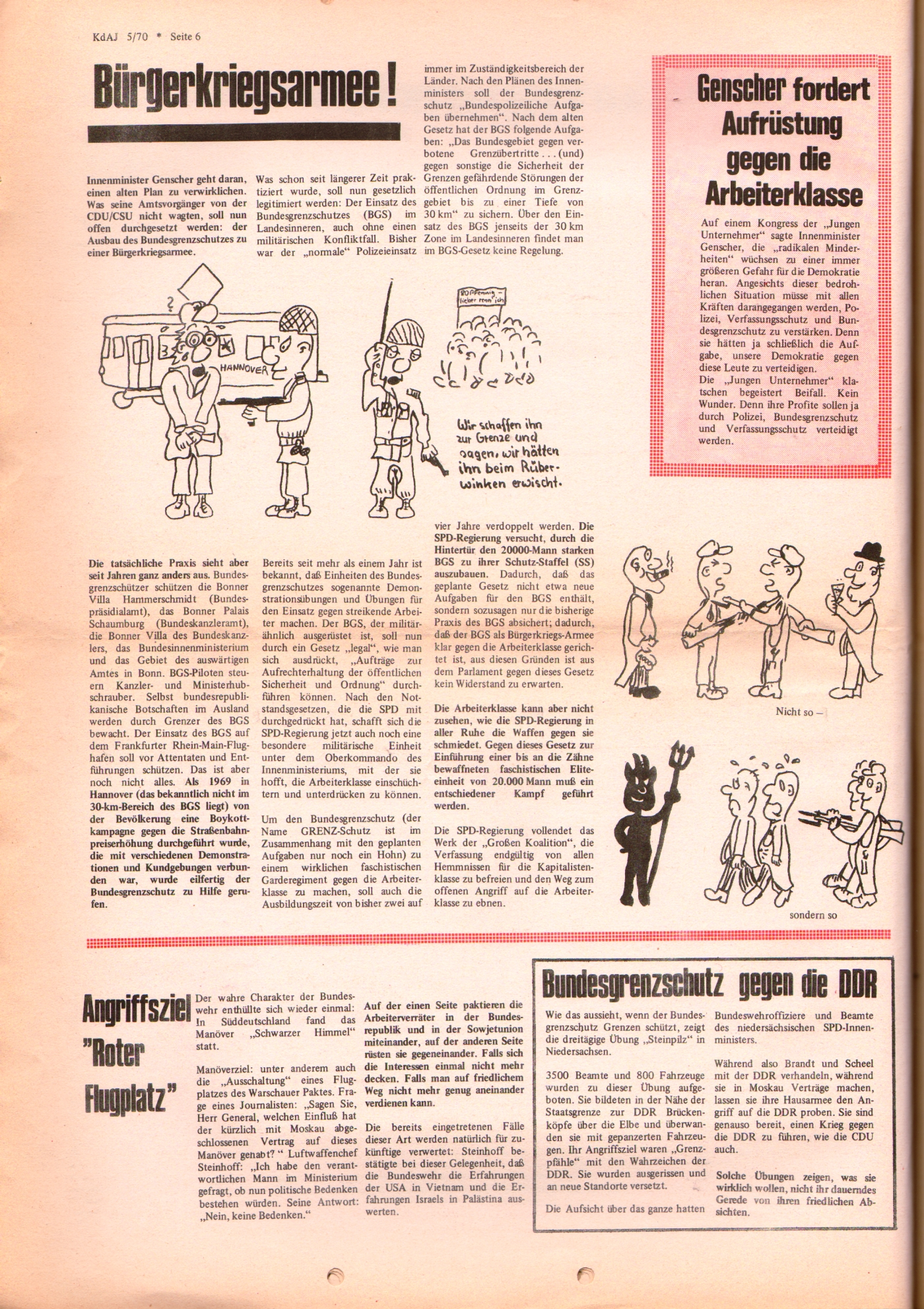 KDAJ, 1. Jg., November 1970, Nr. 5, Seite 6