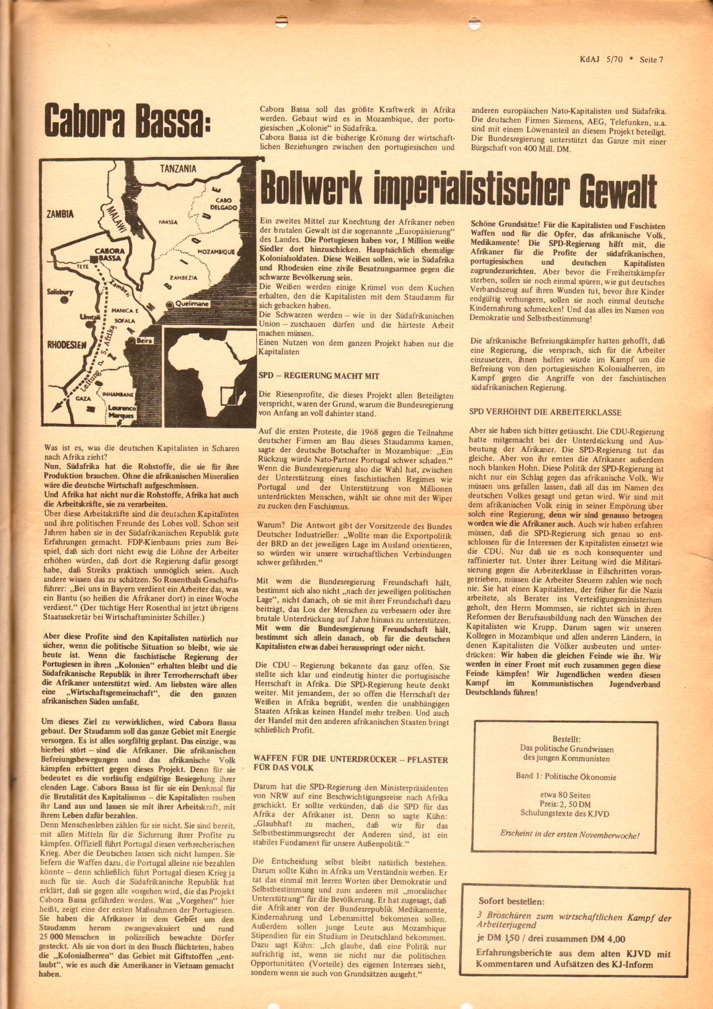KDAJ, 1. Jg., November 1970, Nr. 5, Seite 7
