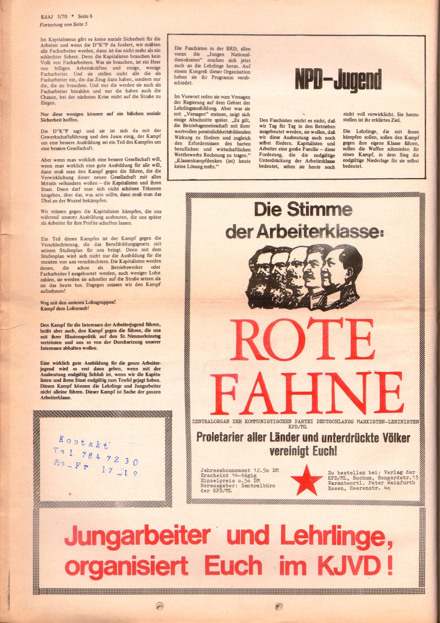 KDAJ, 1. Jg., November 1970, Nr. 5, Seite 8
