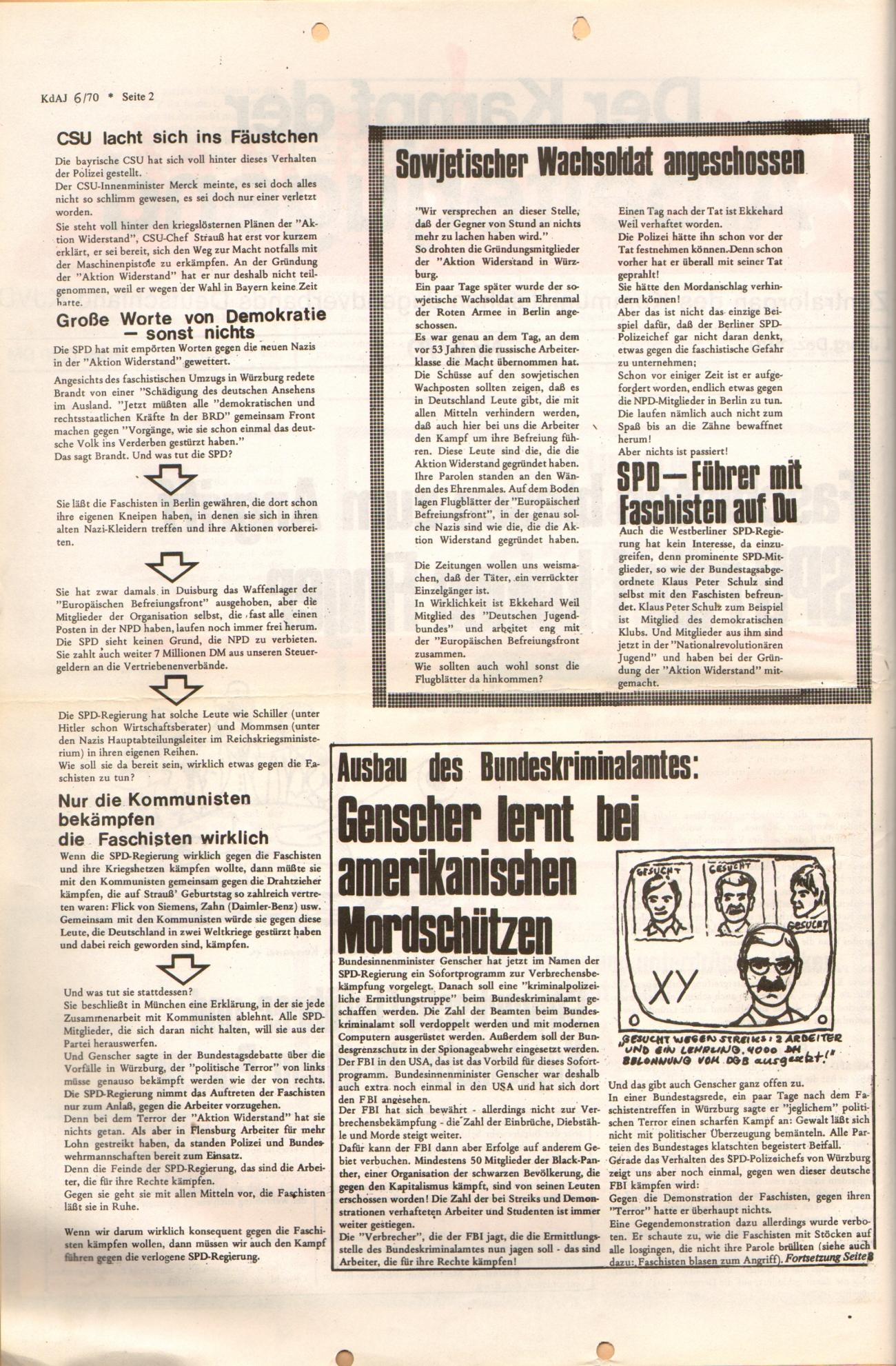 KDAJ, 1. Jg., Dezember 1970, Nr. 6, Seite 2