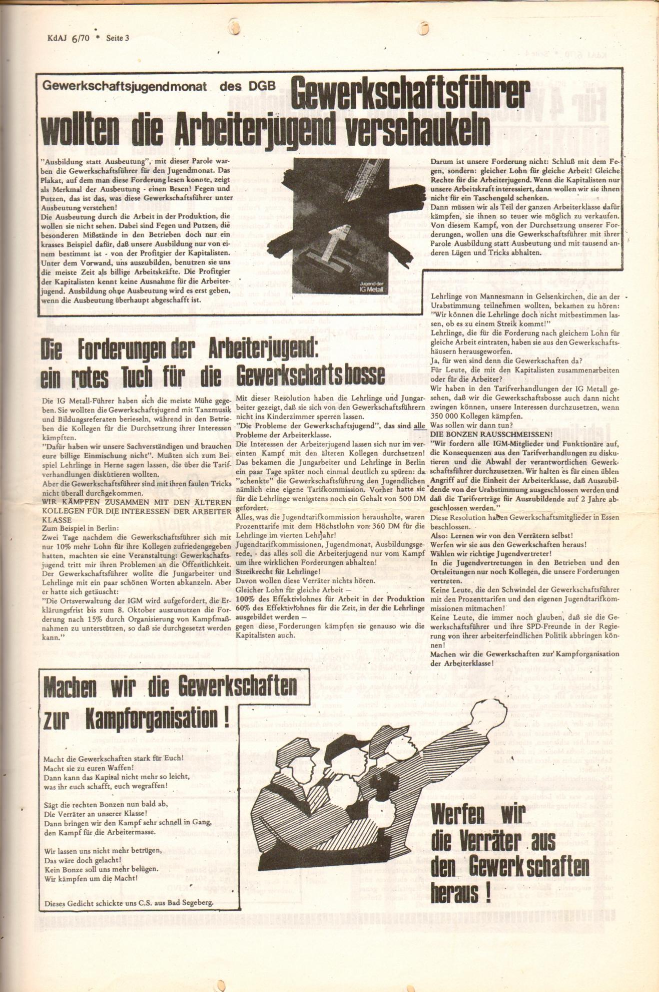 KDAJ, 1. Jg., Dezember 1970, Nr. 6, Seite 3