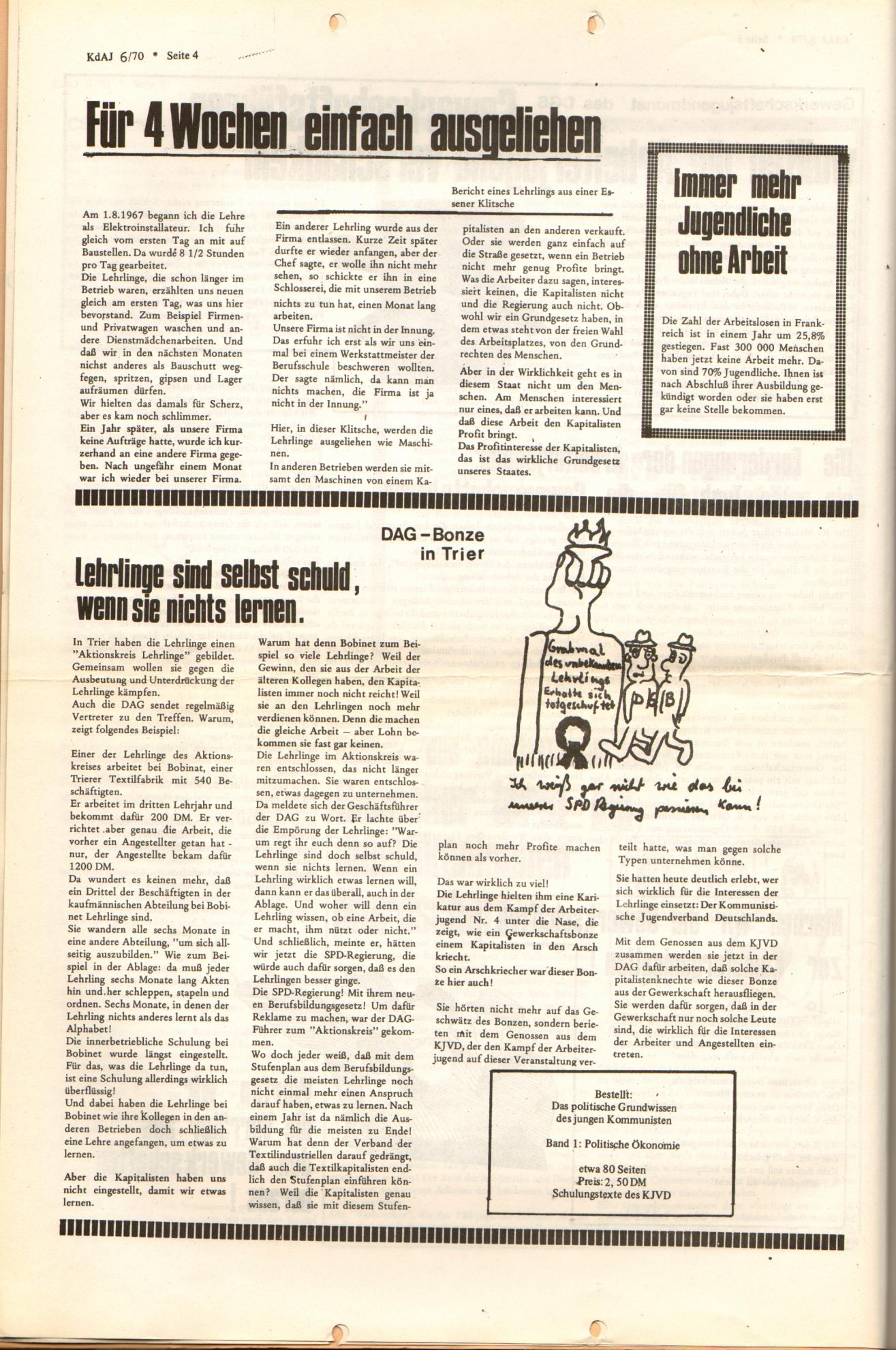 KDAJ, 1. Jg., Dezember 1970, Nr. 6, Seite 4