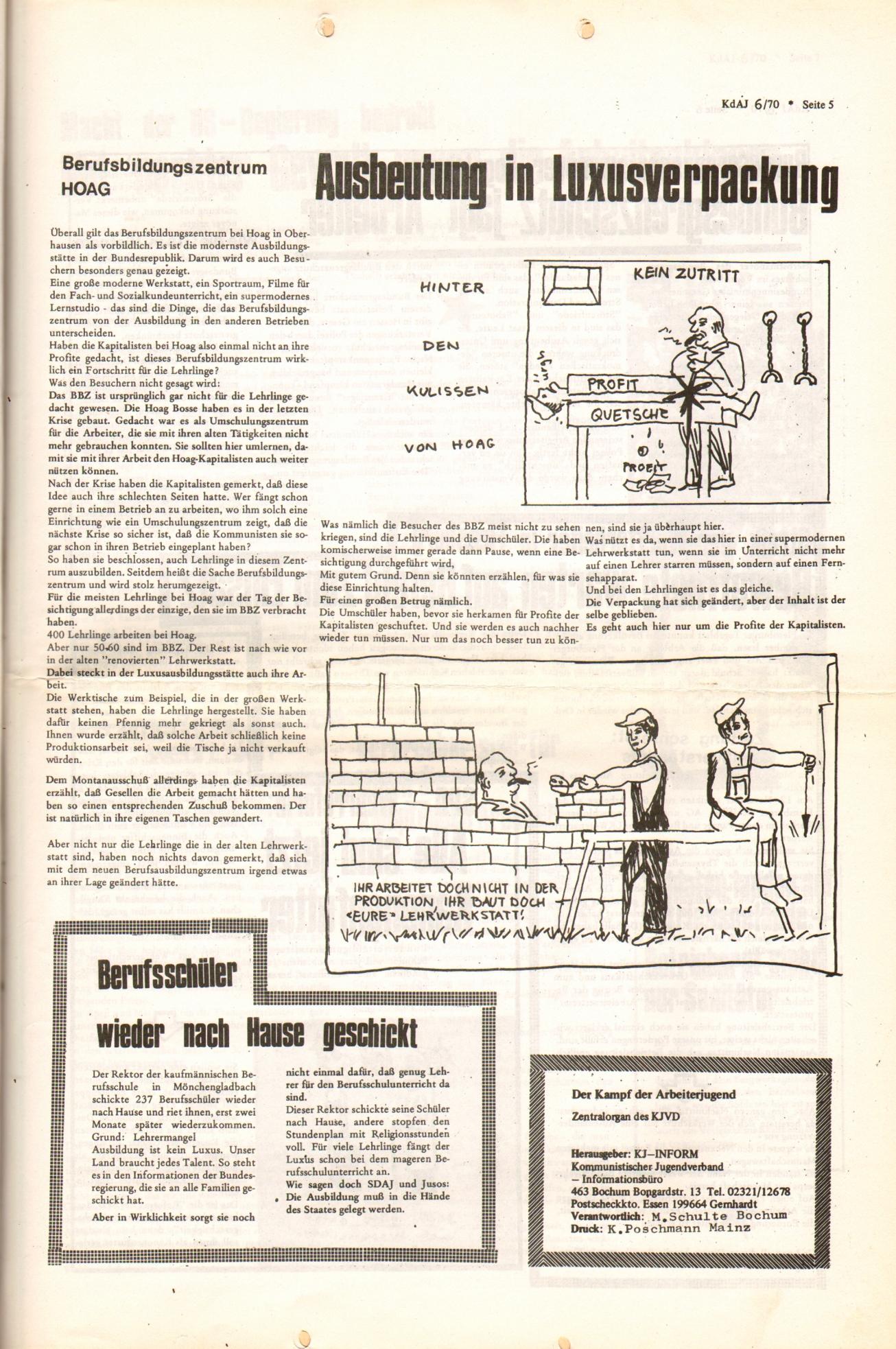 KDAJ, 1. Jg., Dezember 1970, Nr. 6, Seite 5