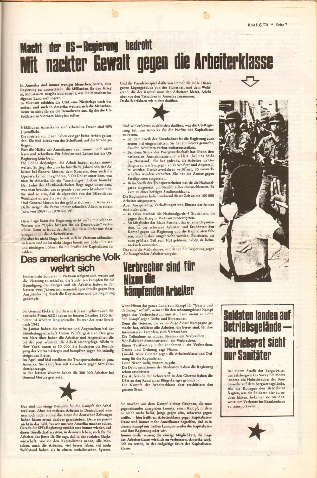 KDAJ, 1. Jg., Dezember 1970, Nr. 6, Seite 7