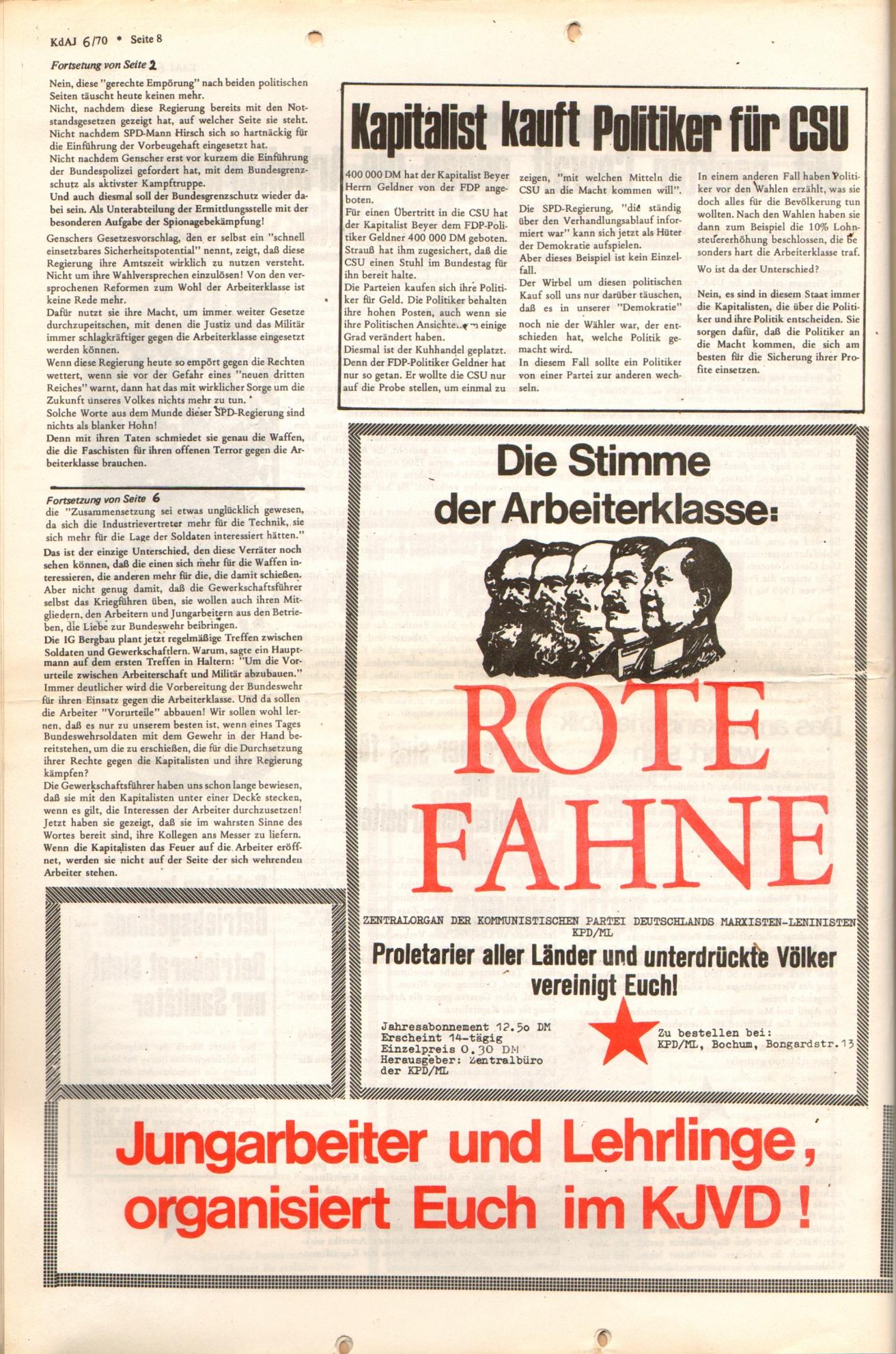 KDAJ, 1. Jg., Dezember 1970, Nr. 6, Seite 8