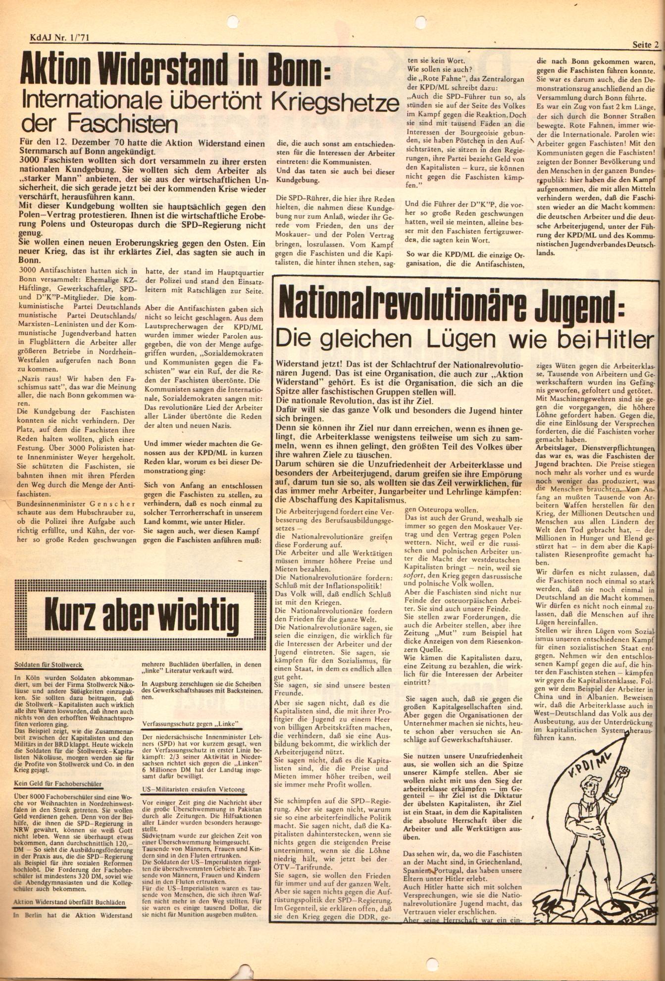 KDAJ, 2. Jg., Januar 1971, Nr. 1, Seite 2