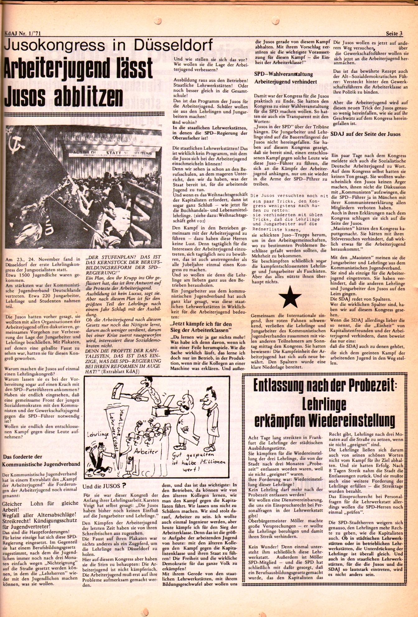 KDAJ, 2. Jg., Januar 1971, Nr. 1, Seite 3