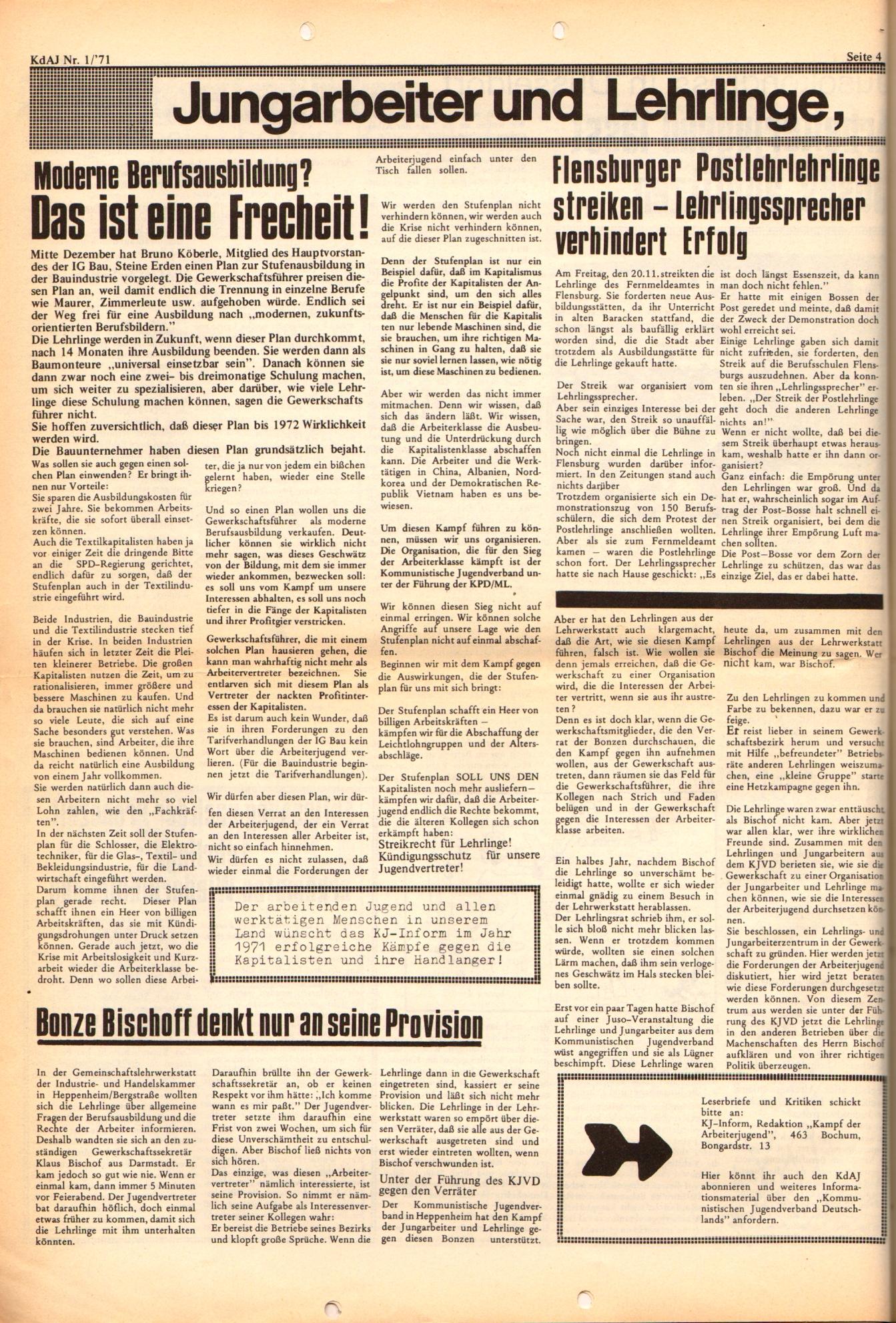 KDAJ, 2. Jg., Januar 1971, Nr. 1, Seite 4