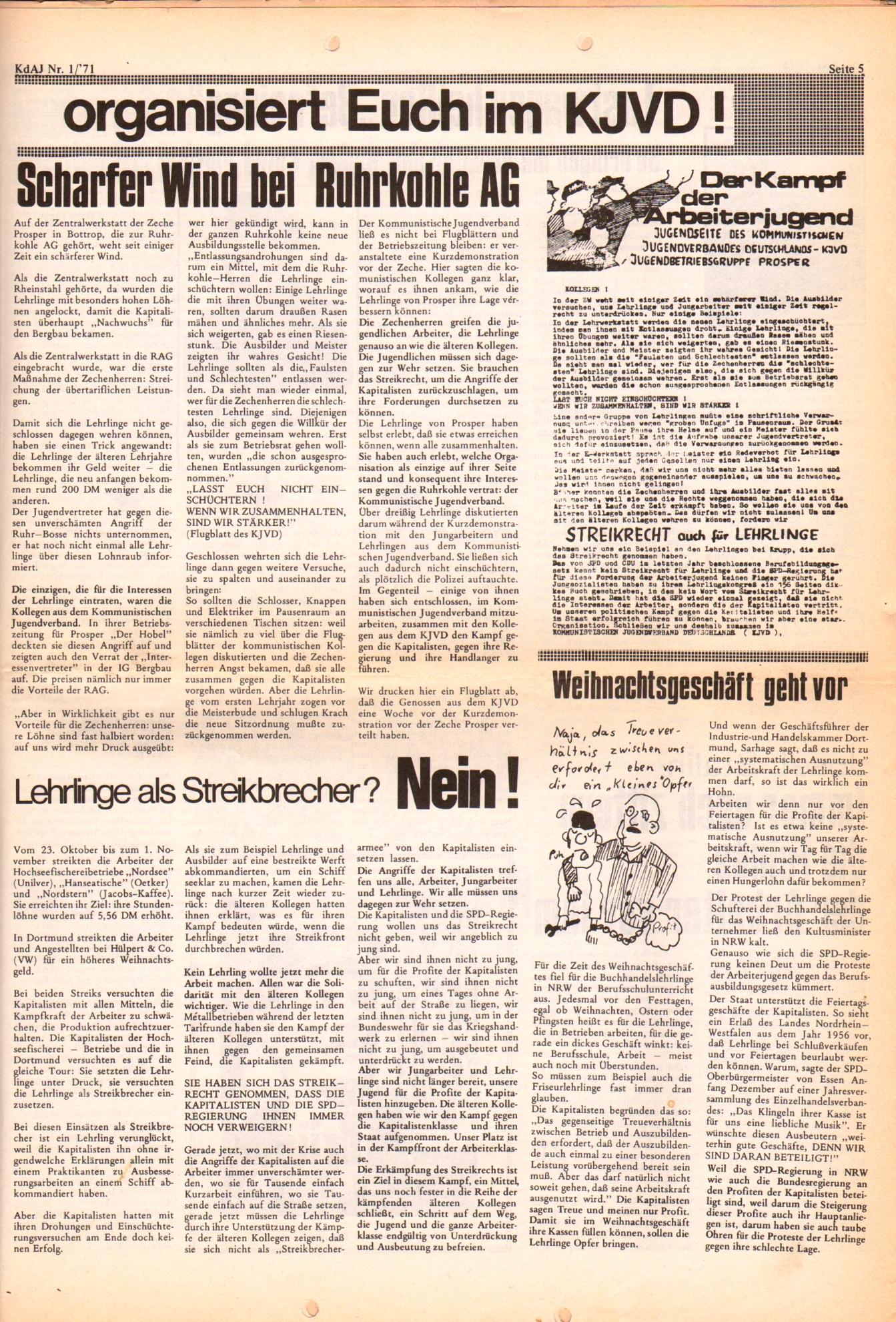 KDAJ, 2. Jg., Januar 1971, Nr. 1, Seite 5