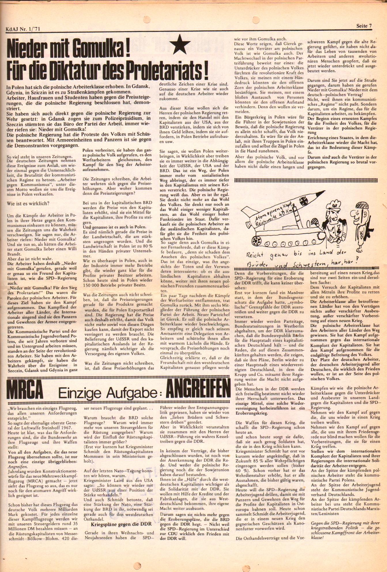 KDAJ, 2. Jg., Januar 1971, Nr. 1, Seite 7
