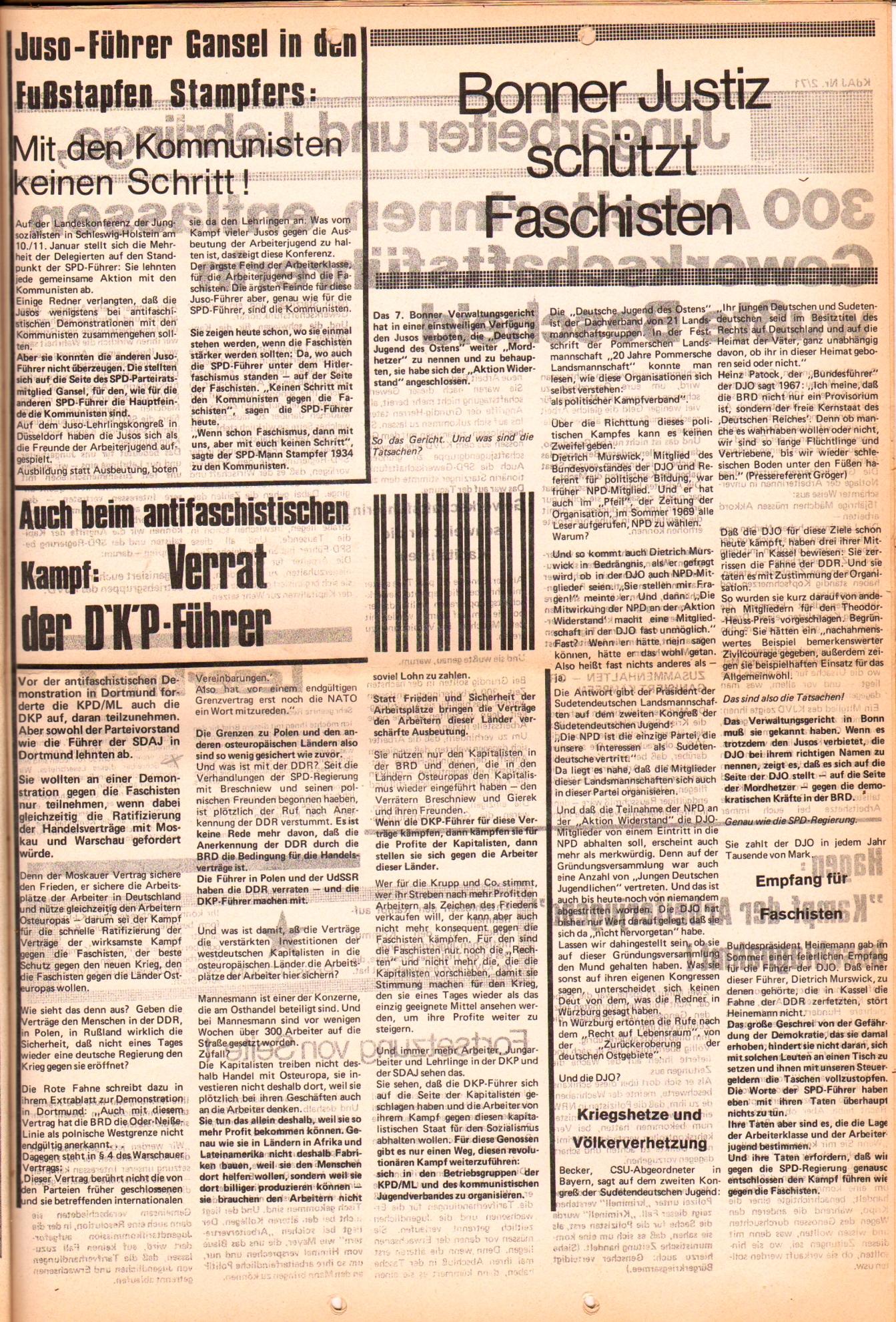 KDAJ, 2. Jg., Februar 1971, Nr. 2, Seite 3