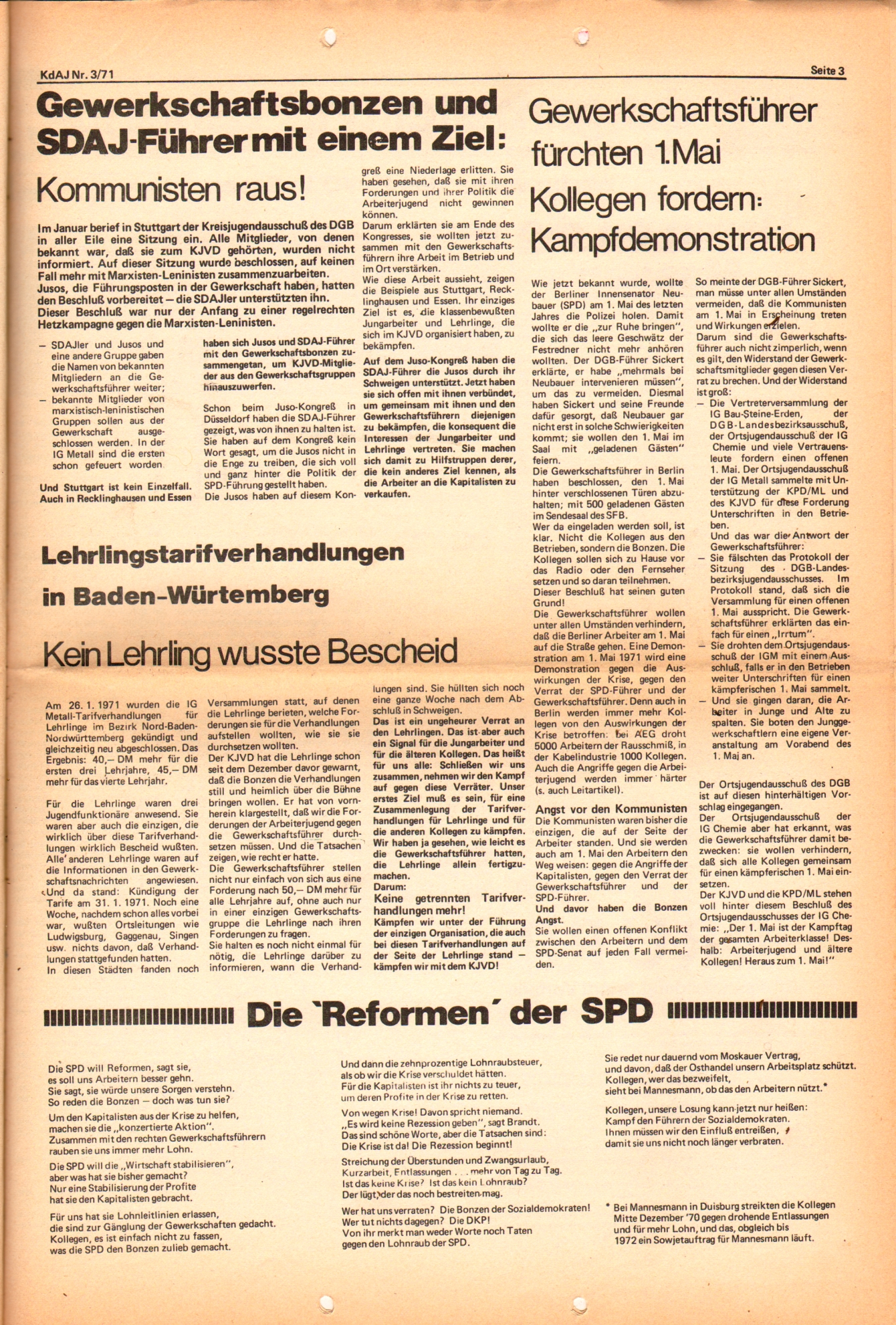 KDAJ, 2. Jg., März 1971, Nr. 3, Seite 3