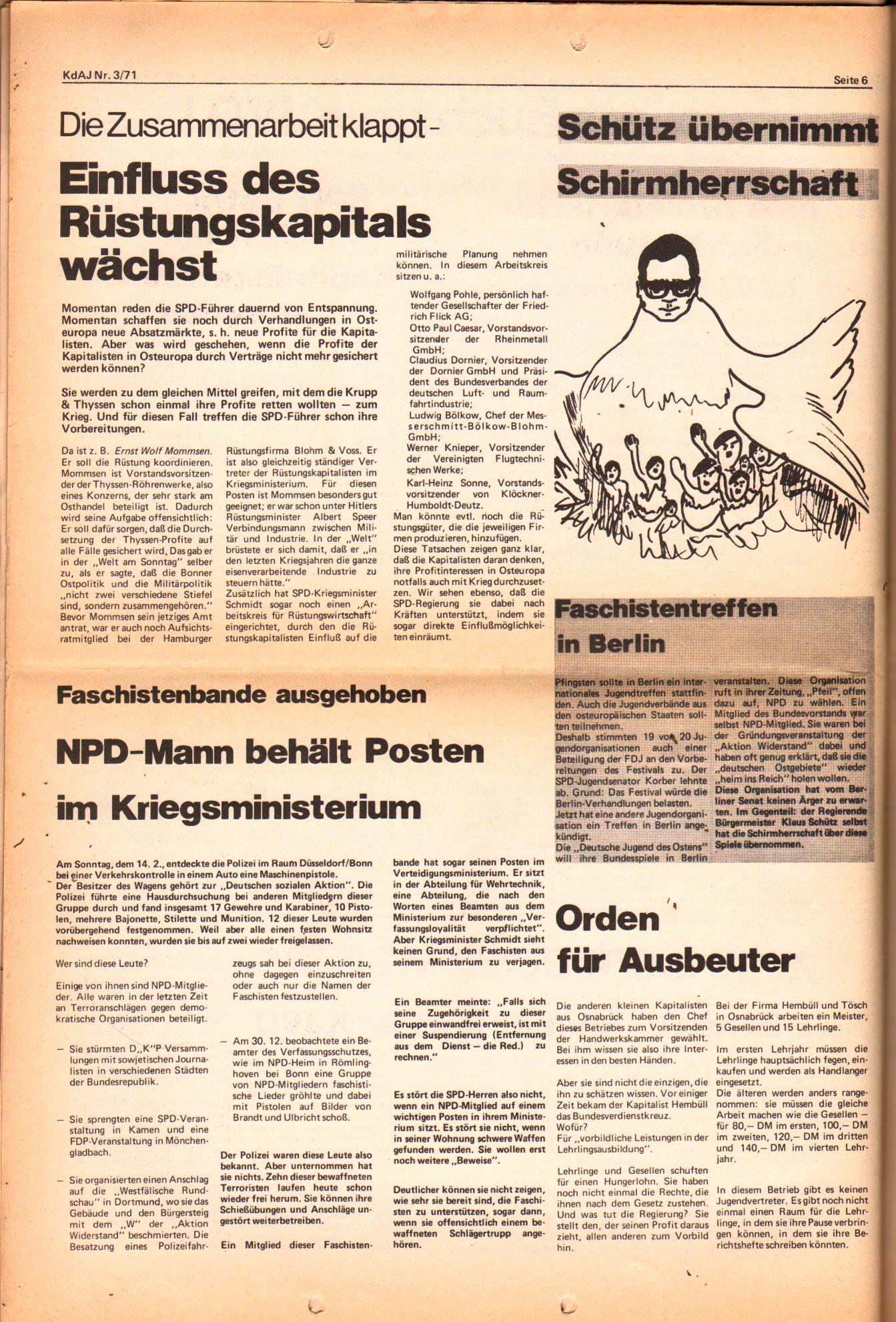 KDAJ, 2. Jg., März 1971, Nr. 3, Seite 6