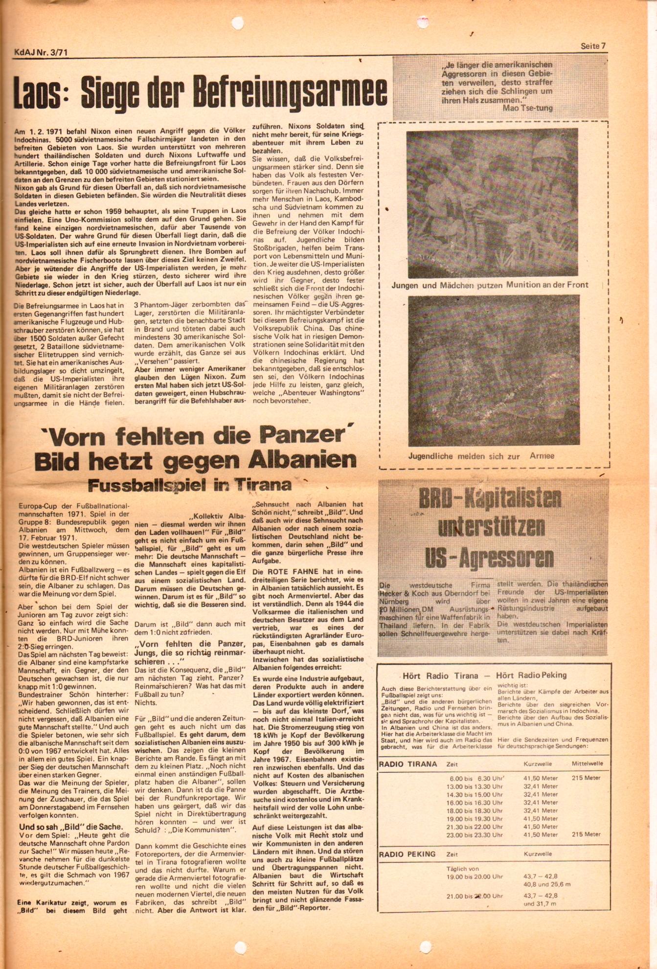 KDAJ, 2. Jg., März 1971, Nr. 3, Seite 7