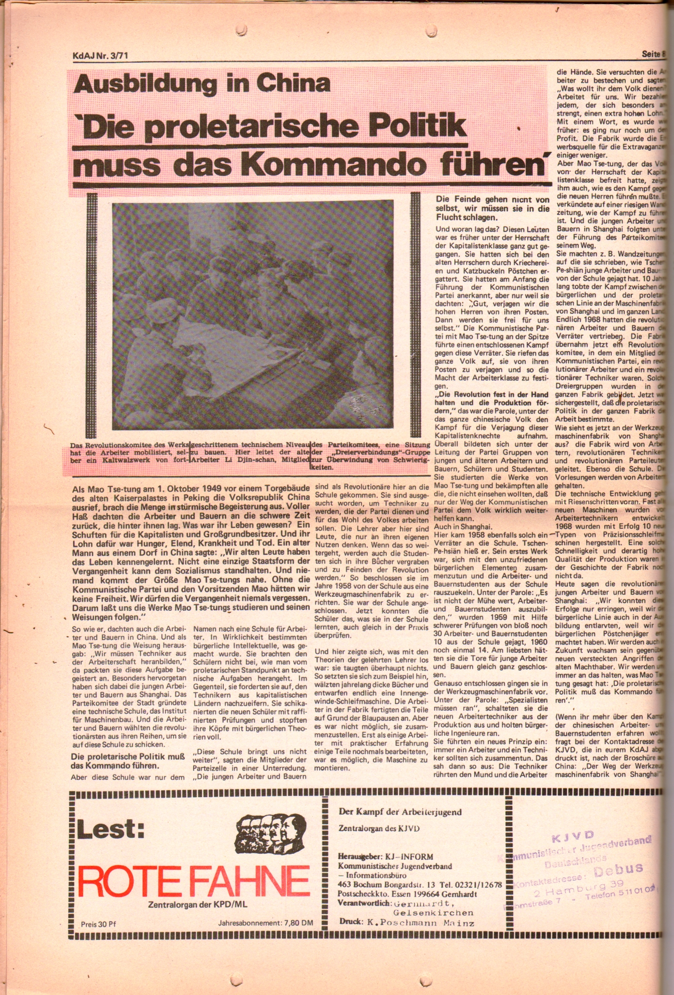 KDAJ, 2. Jg., März 1971, Nr. 3, Seite 8