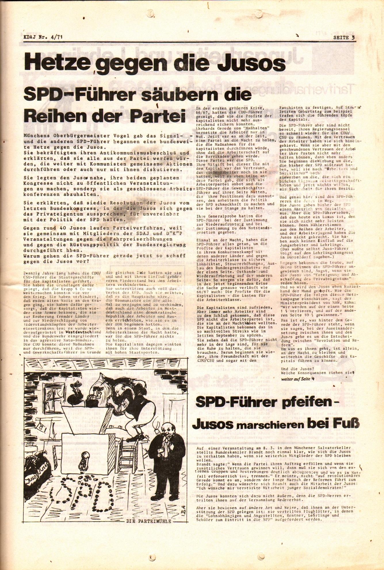 KDAJ, 2. Jg., April 1971, Nr. 4, Seite 3