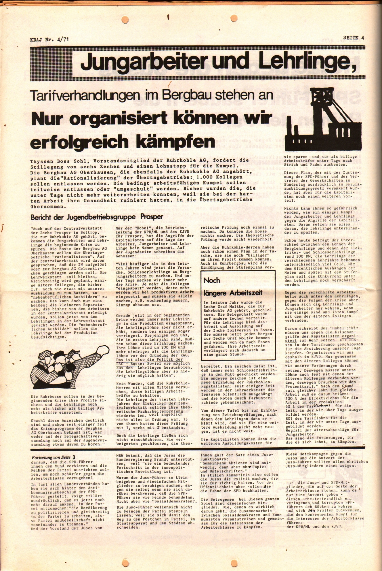KDAJ, 2. Jg., April 1971, Nr. 4, Seite 4