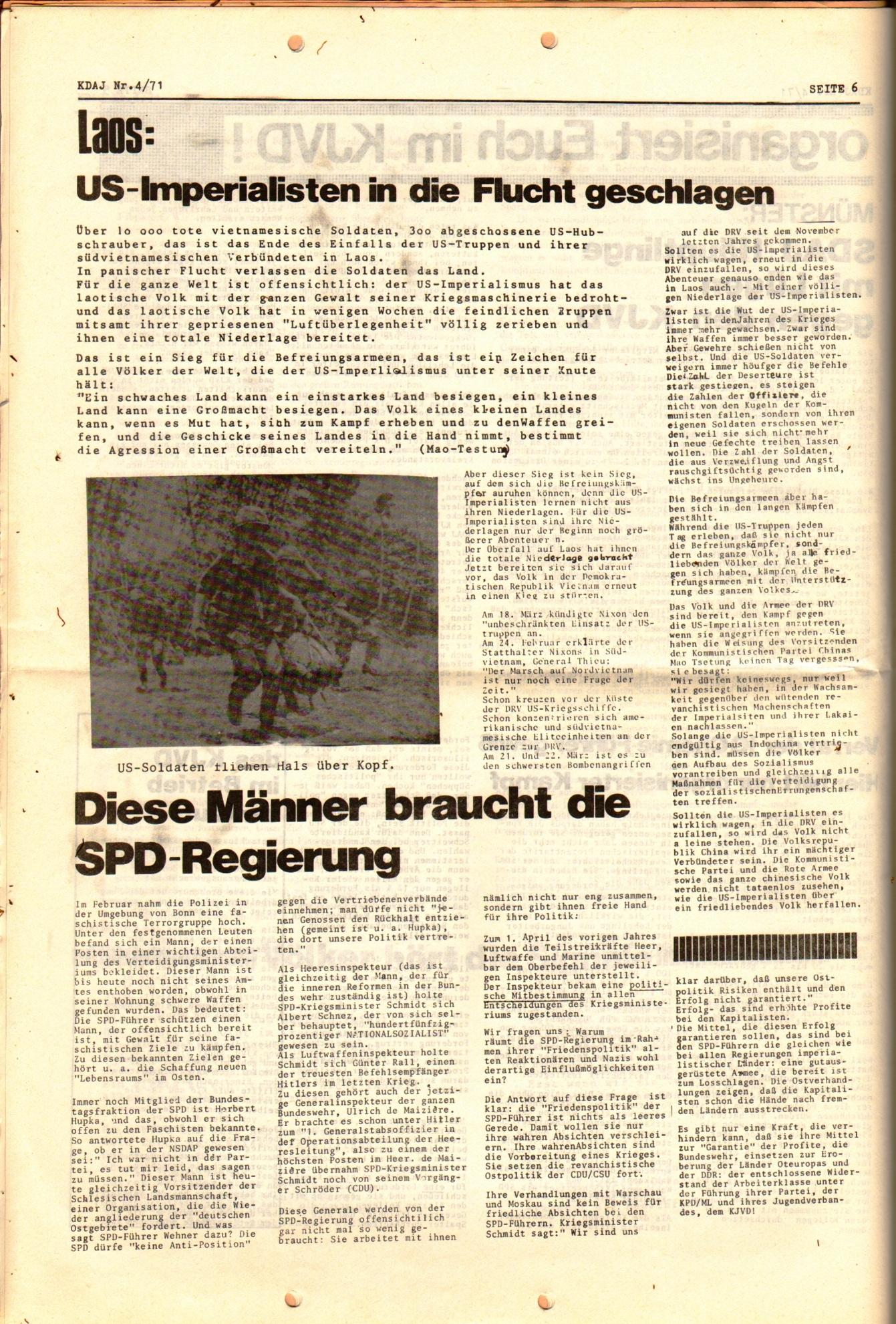 KDAJ, 2. Jg., April 1971, Nr. 4, Seite 6
