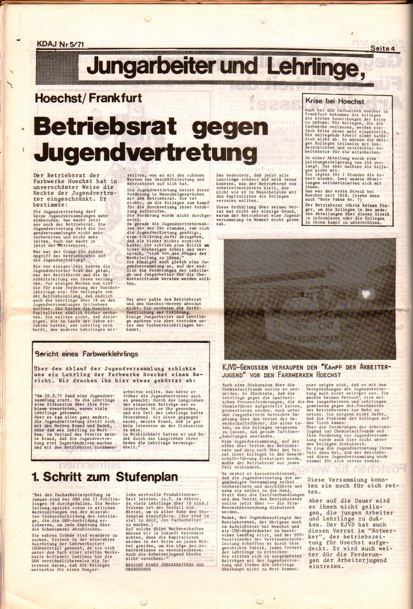 KDAJ, 2. Jg., Mai 1971, Nr. 5, Seite 4