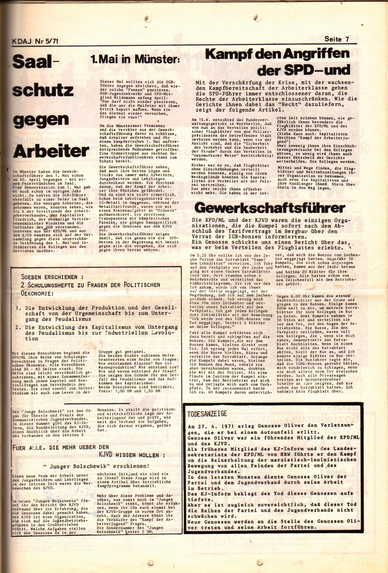 KDAJ, 2. Jg., Mai 1971, Nr. 5, Seite 7