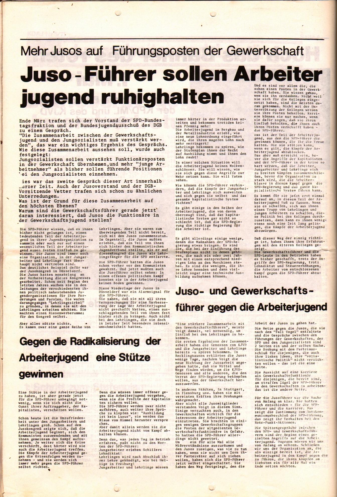 KDAJ, 2. Jg., Mai 1971, Nr. 5, Beilage, Seite 2