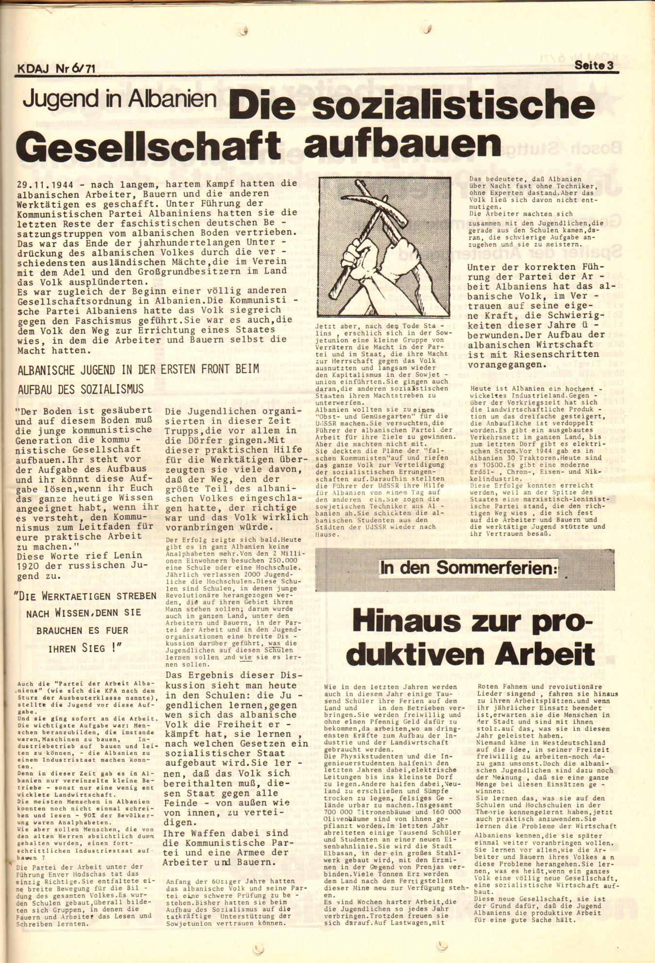 KDAJ, 2. Jg., Juni 1971, Nr. 6, Seite 3