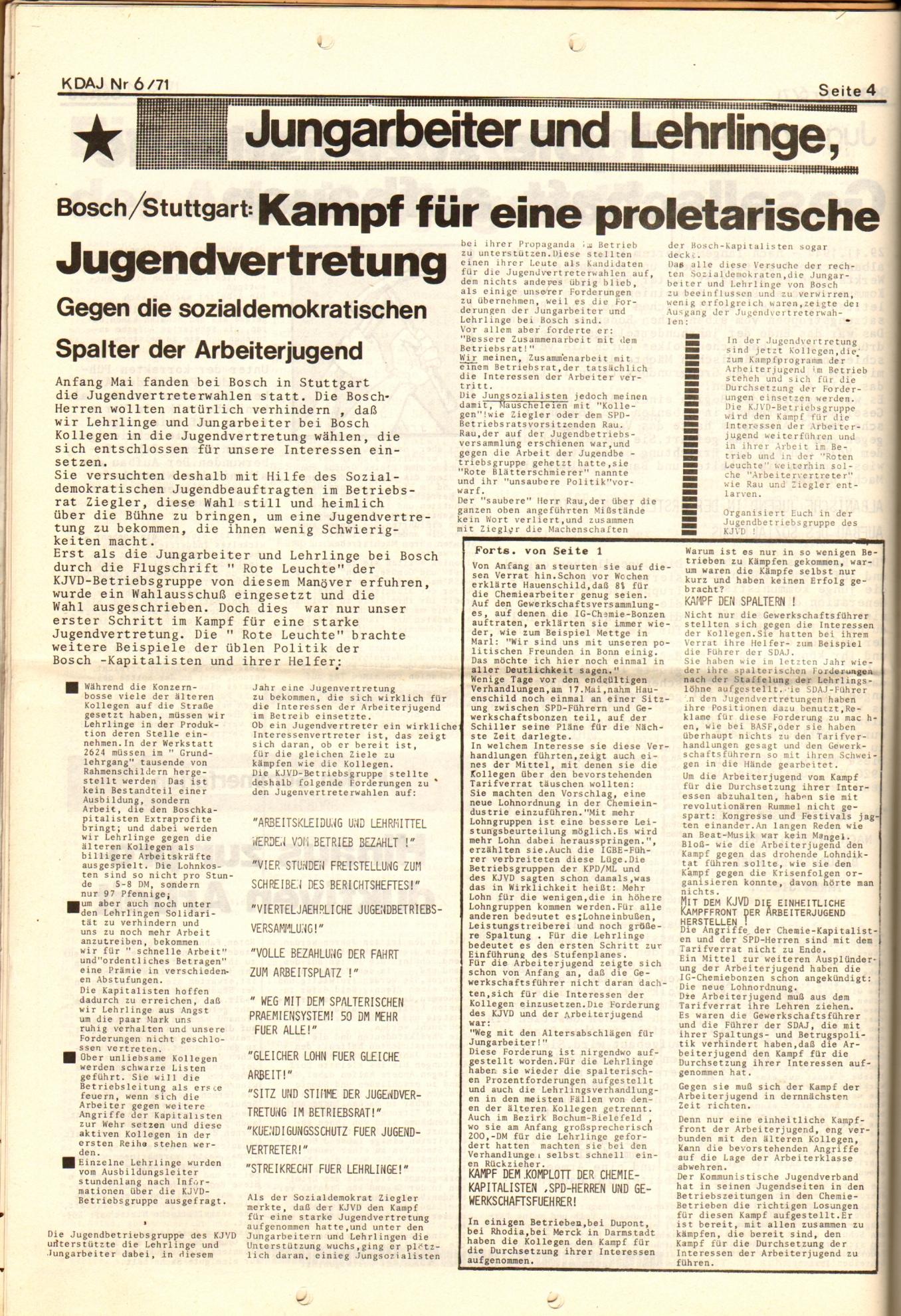 KDAJ, 2. Jg., Juni 1971, Nr. 6, Seite 4