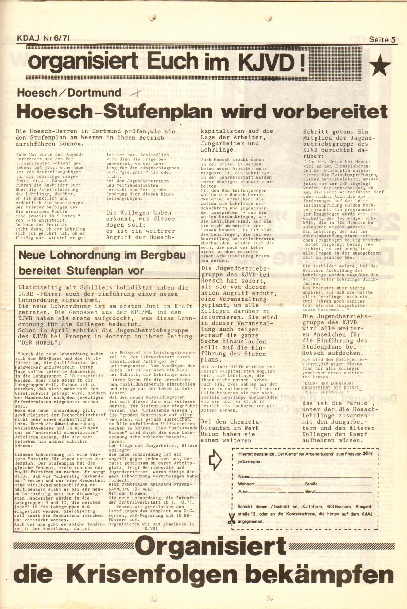 KDAJ, 2. Jg., Juni 1971, Nr. 6, Seite 5