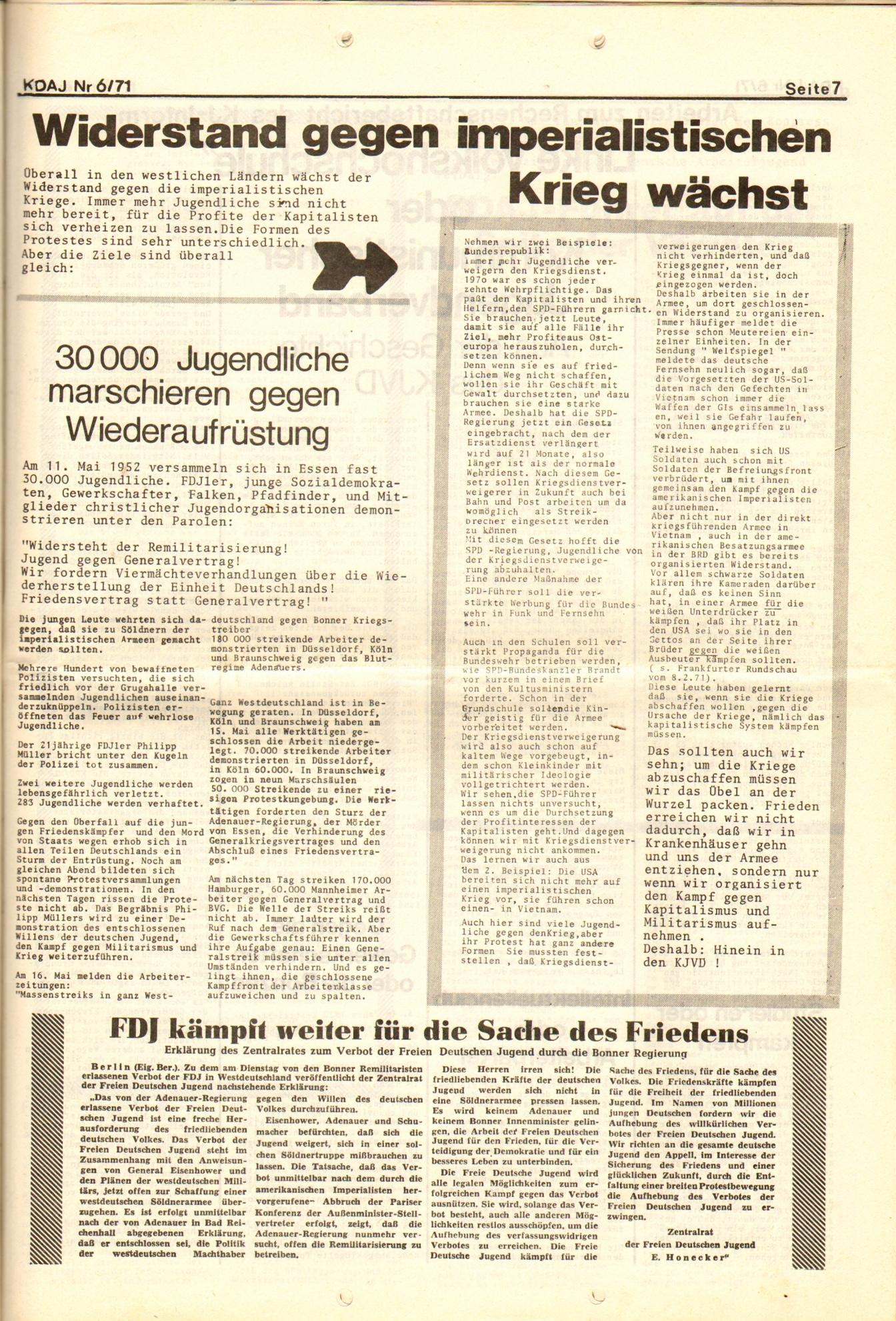KDAJ, 2. Jg., Juni 1971, Nr. 6, Seite 7
