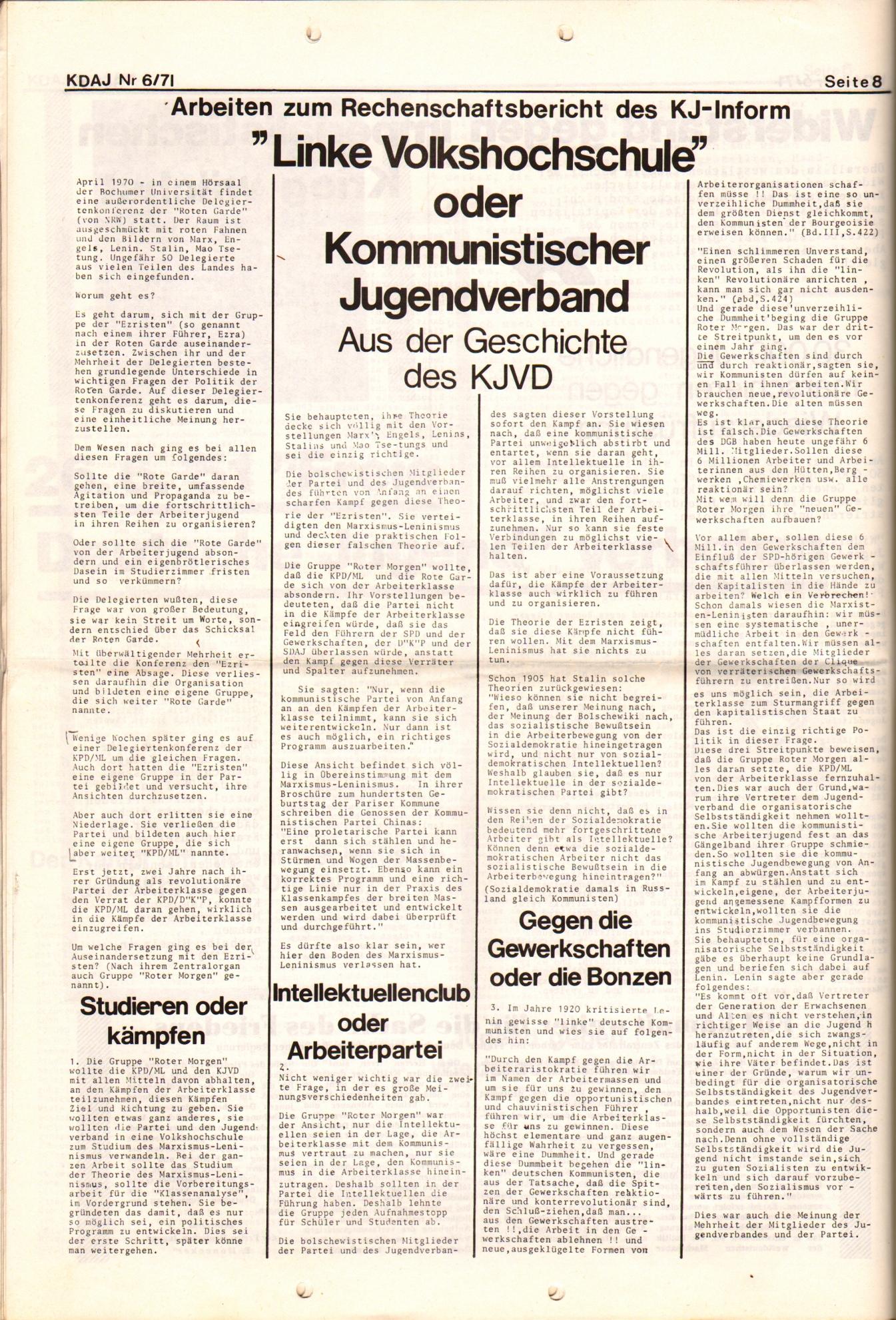 KDAJ, 2. Jg., Juni 1971, Nr. 6, Seite 8