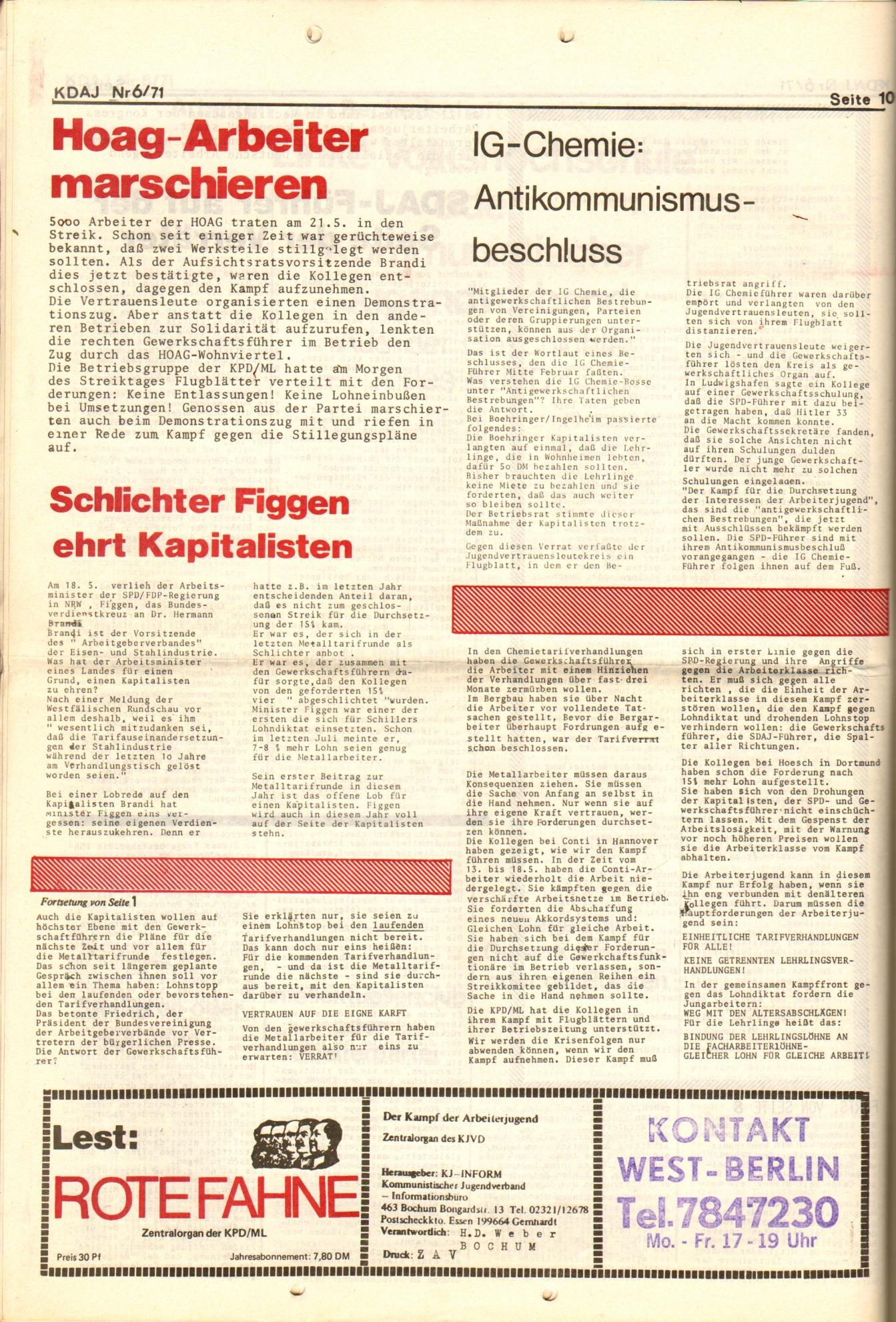 KDAJ, 2. Jg., Juni 1971, Nr. 6, Seite 10