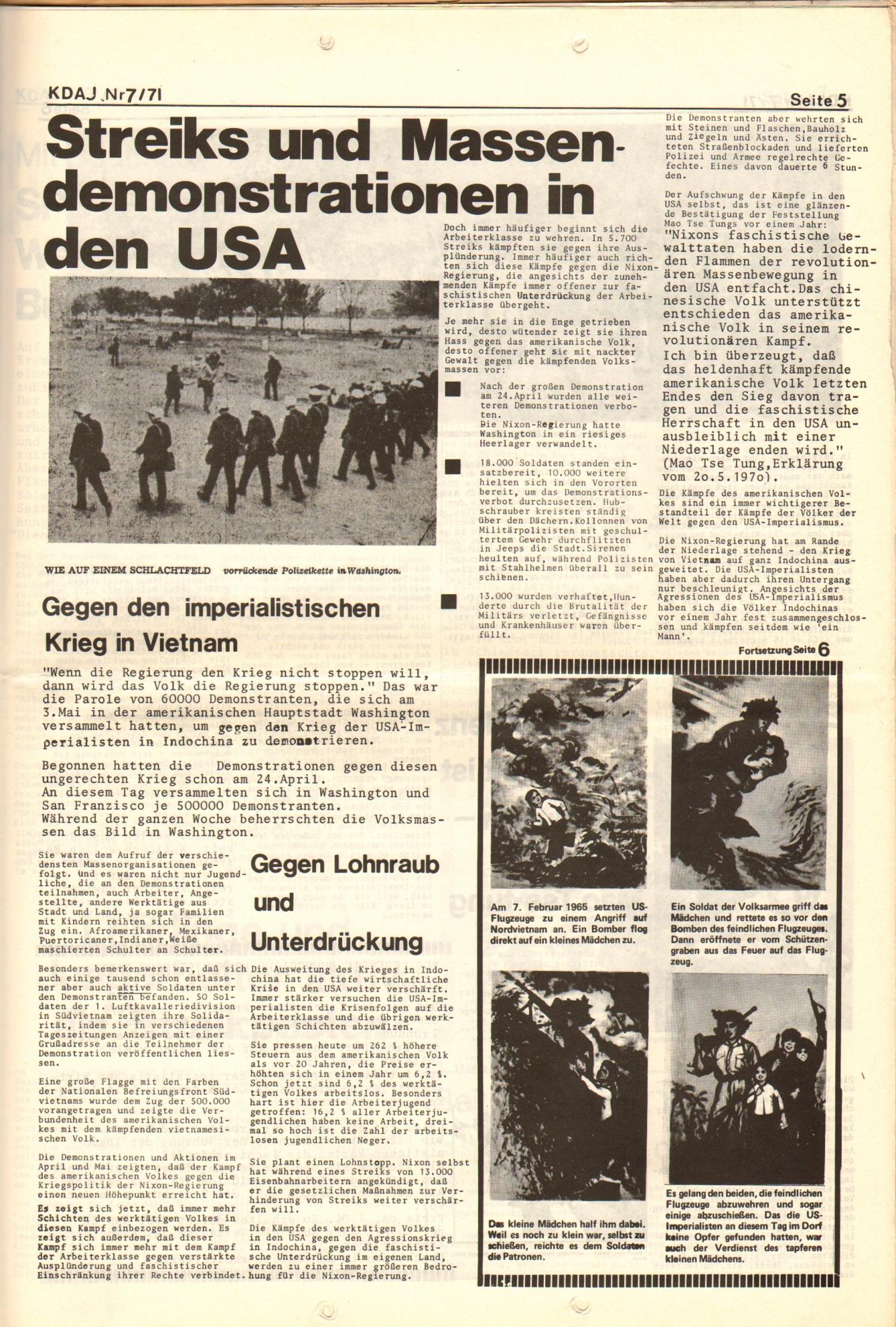 KDAJ, 2. Jg., Juli 1971, Nr. 7, Seite 5