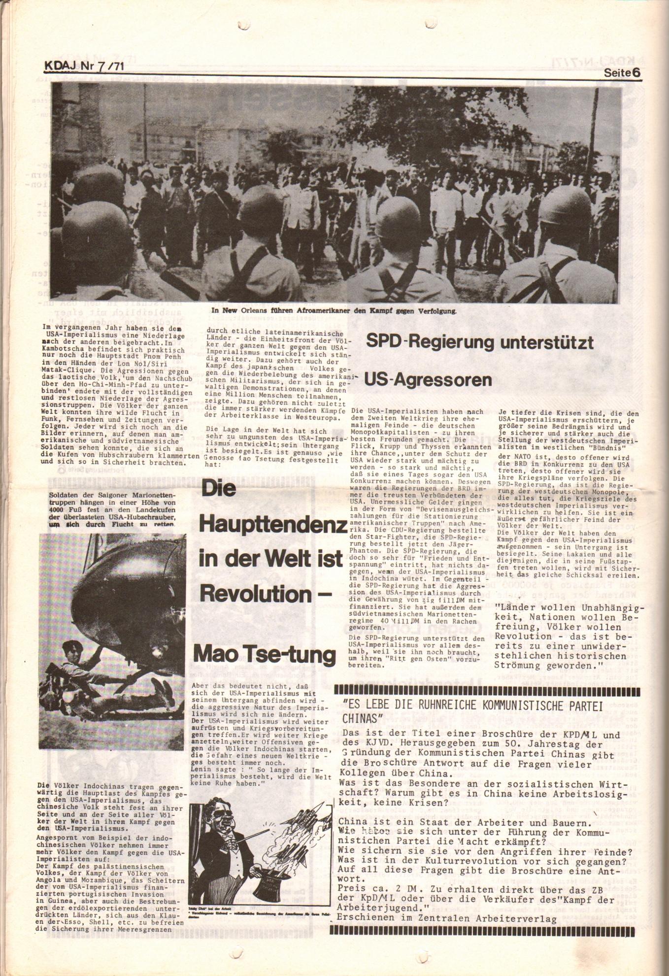 KDAJ, 2. Jg., Juli 1971, Nr. 7, Seite 6