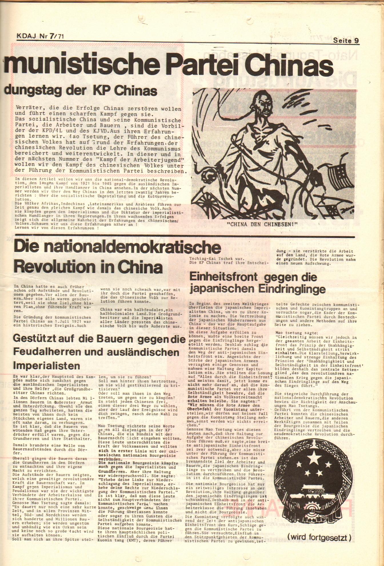 KDAJ, 2. Jg., Juli 1971, Nr. 7, Seite 9