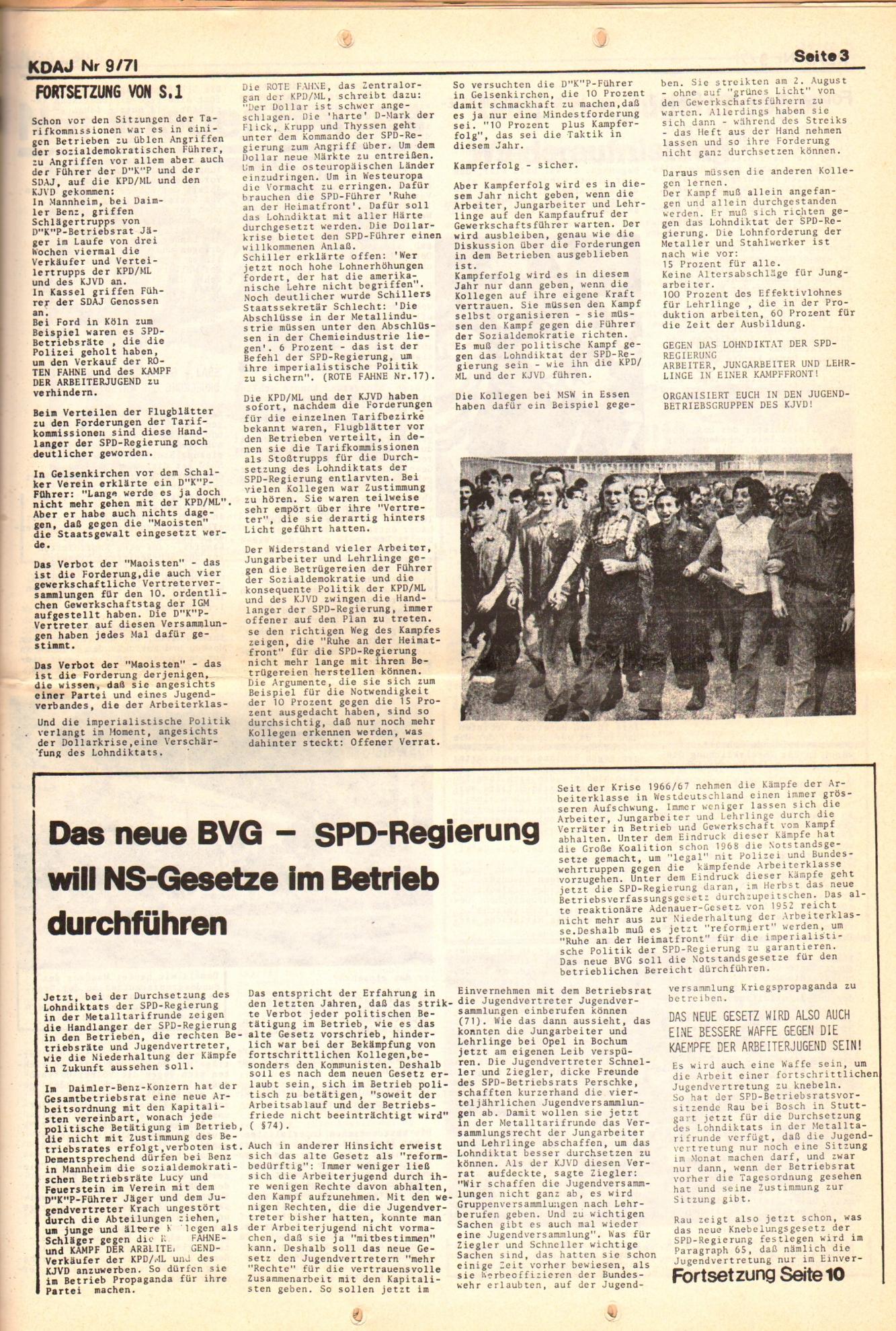 KDAJ, 2. Jg., September 1971, Nr. 9, Seite 3