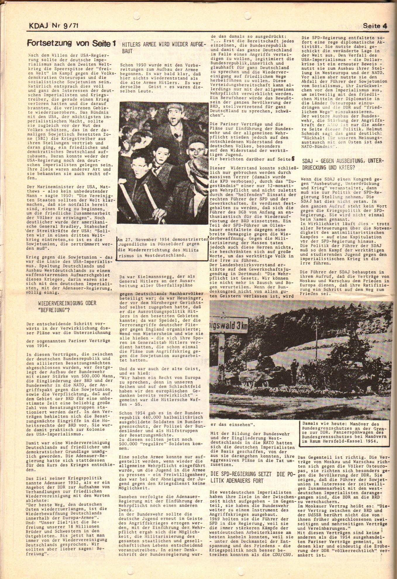 KDAJ, 2. Jg., September 1971, Nr. 9, Seite 4