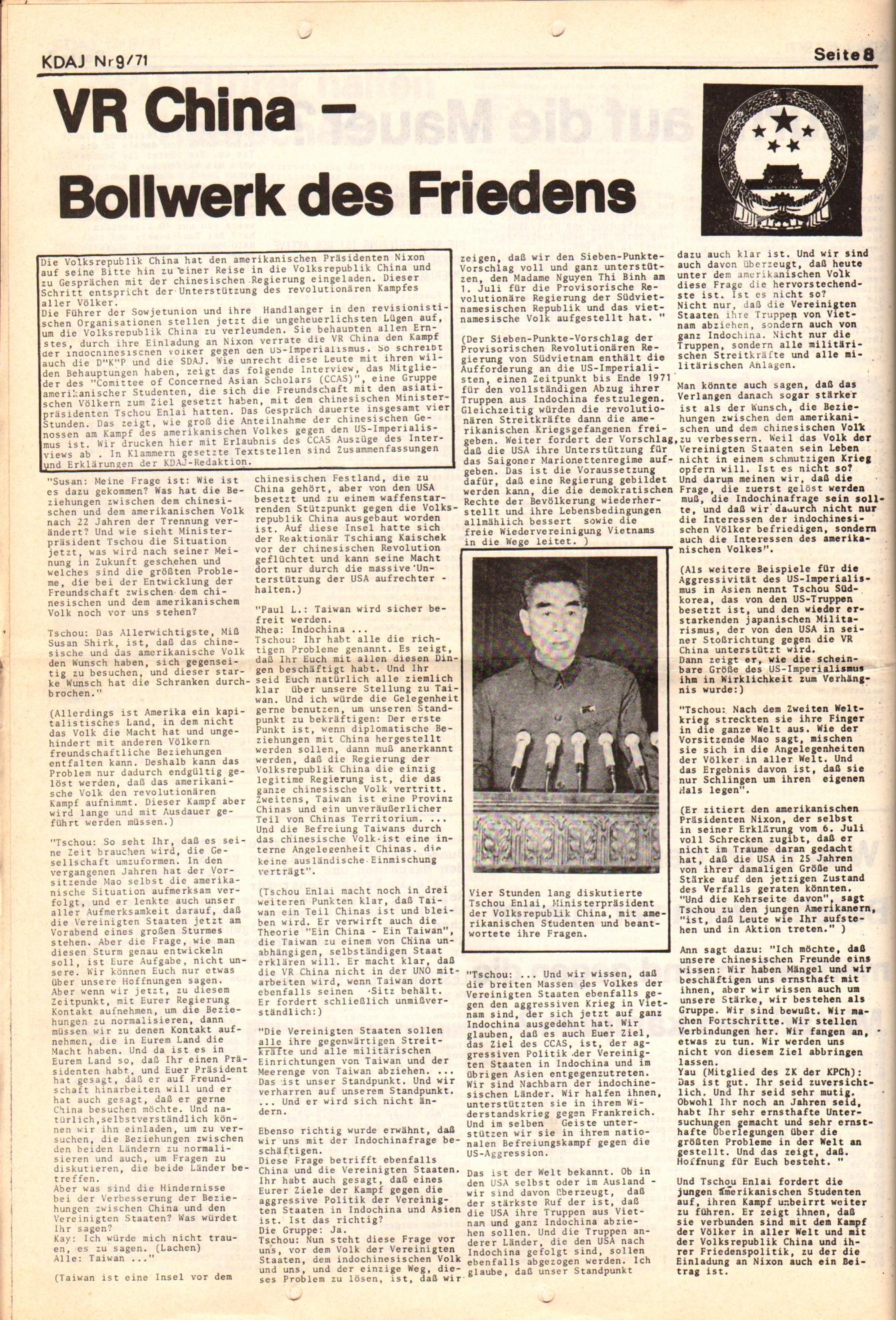 KDAJ, 2. Jg., September 1971, Nr. 9, Seite 8