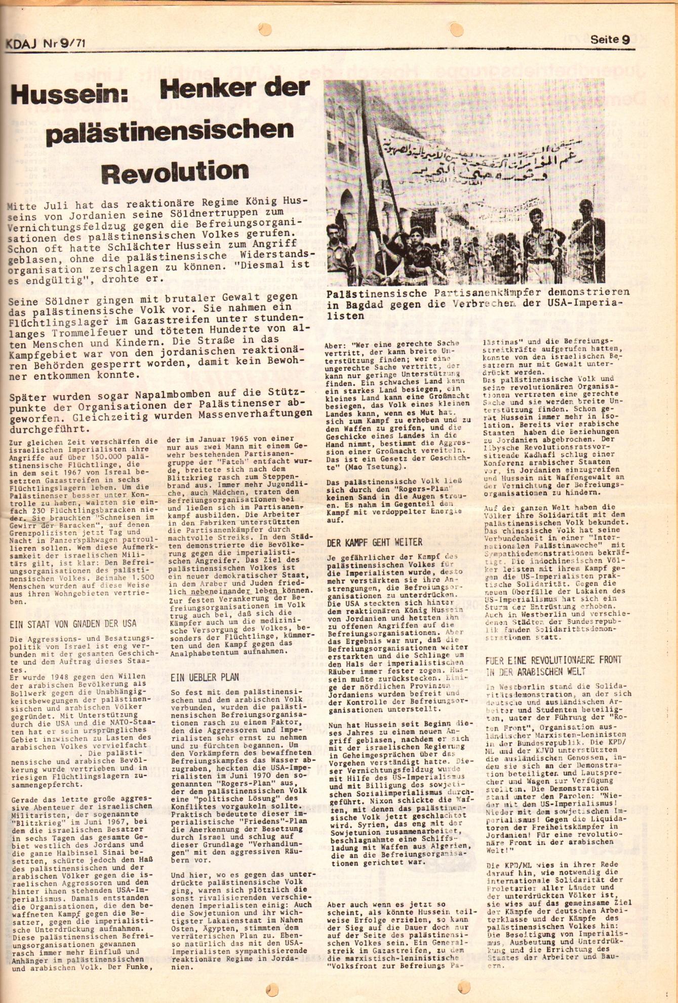 KDAJ, 2. Jg., September 1971, Nr. 9, Seite 9