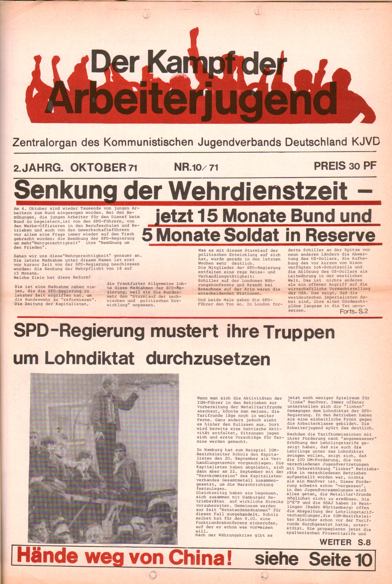KDAJ, 2. Jg., Oktober 1971, Nr. 10, Seite 1