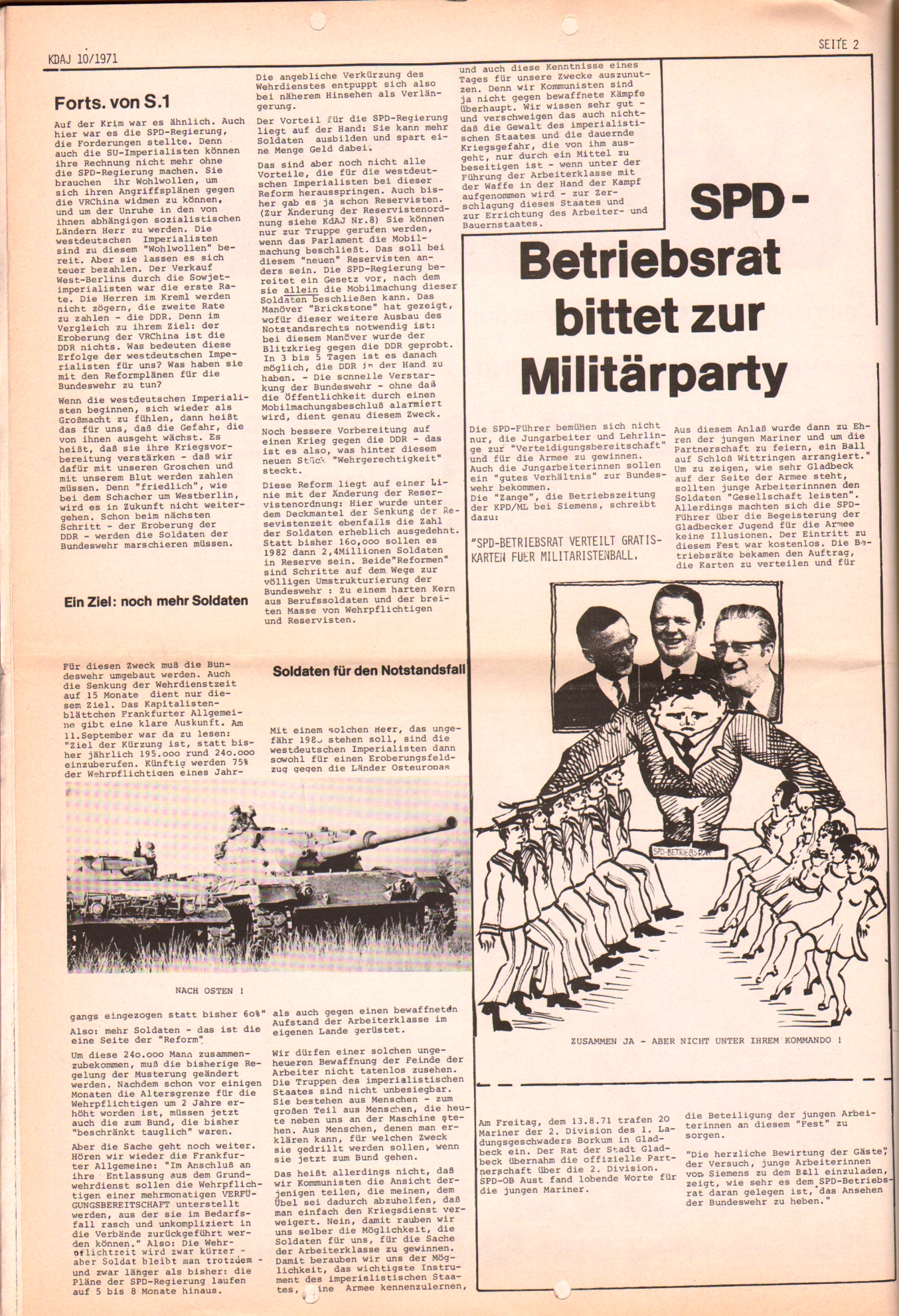 KDAJ, 2. Jg., Oktober 1971, Nr. 10, Seite 2