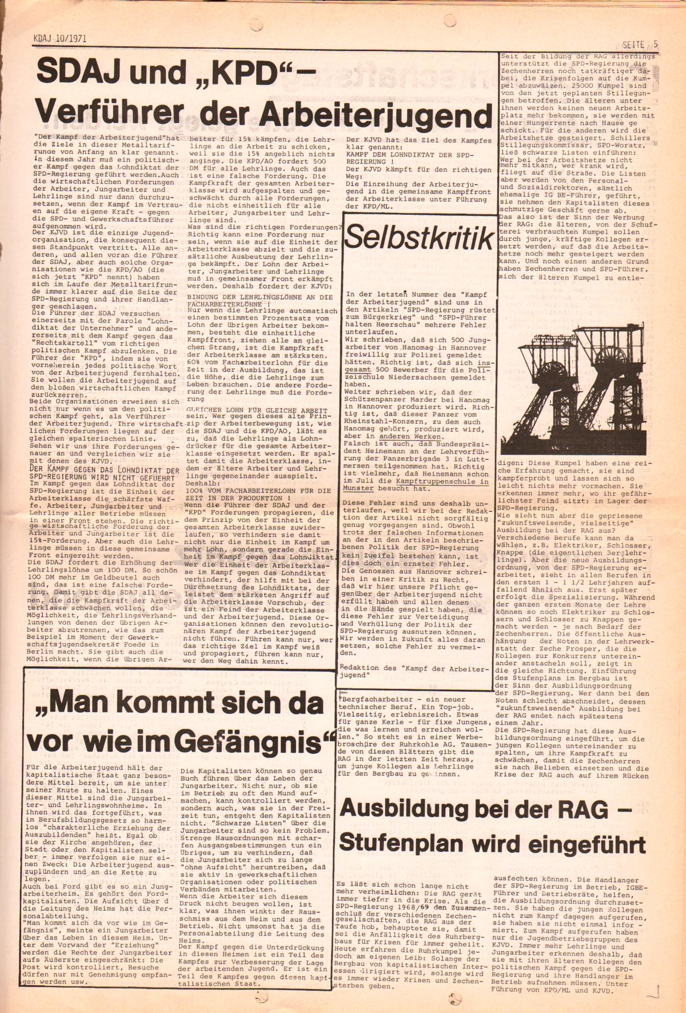 KDAJ, 2. Jg., Oktober 1971, Nr. 10, Seite 5