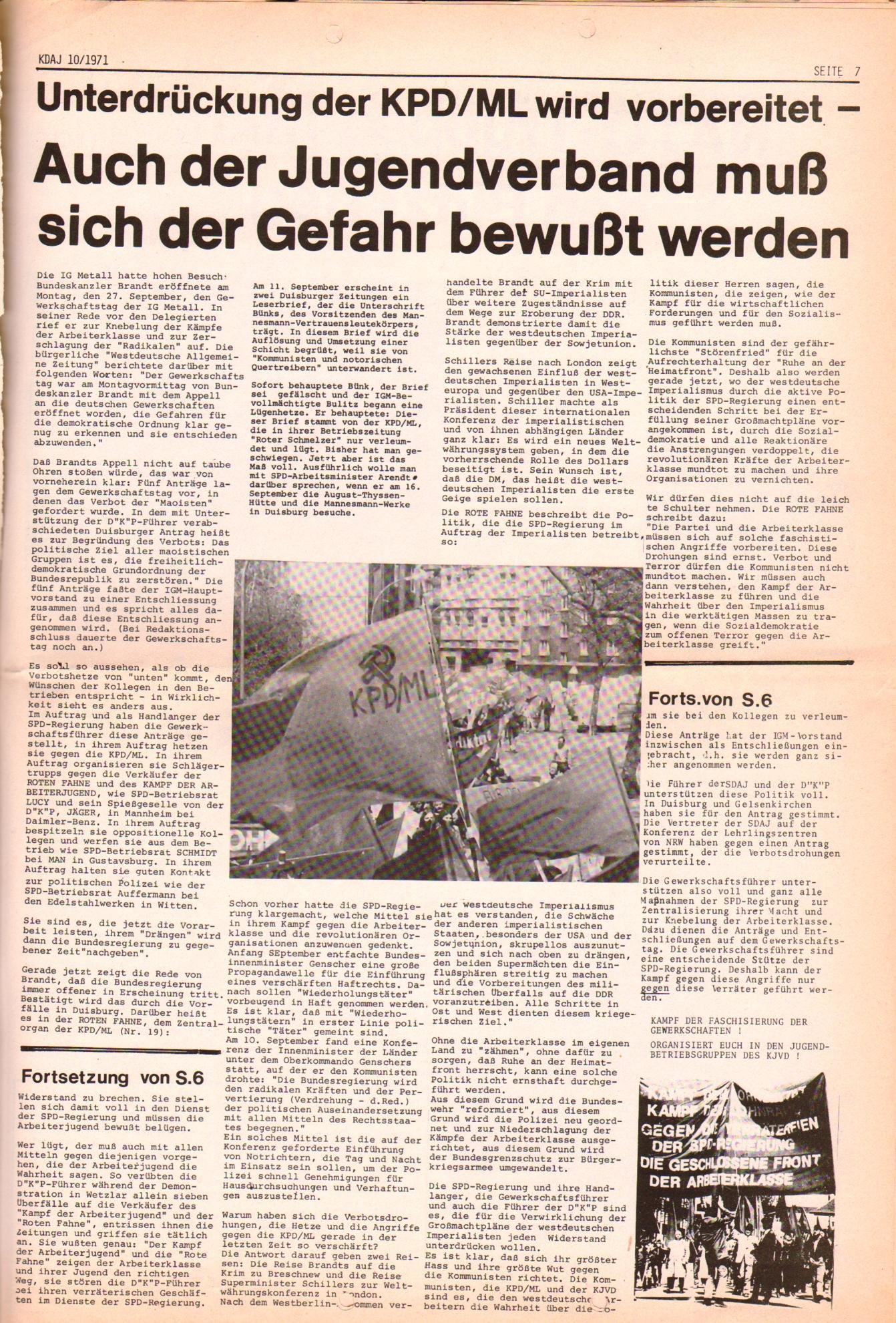 KDAJ, 2. Jg., Oktober 1971, Nr. 10, Seite 7