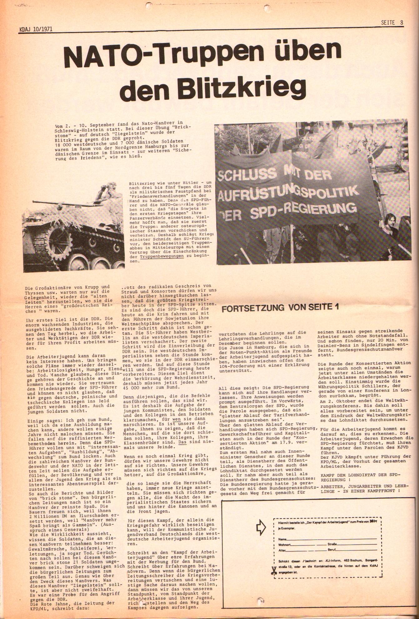 KDAJ, 2. Jg., Oktober 1971, Nr. 10, Seite 8