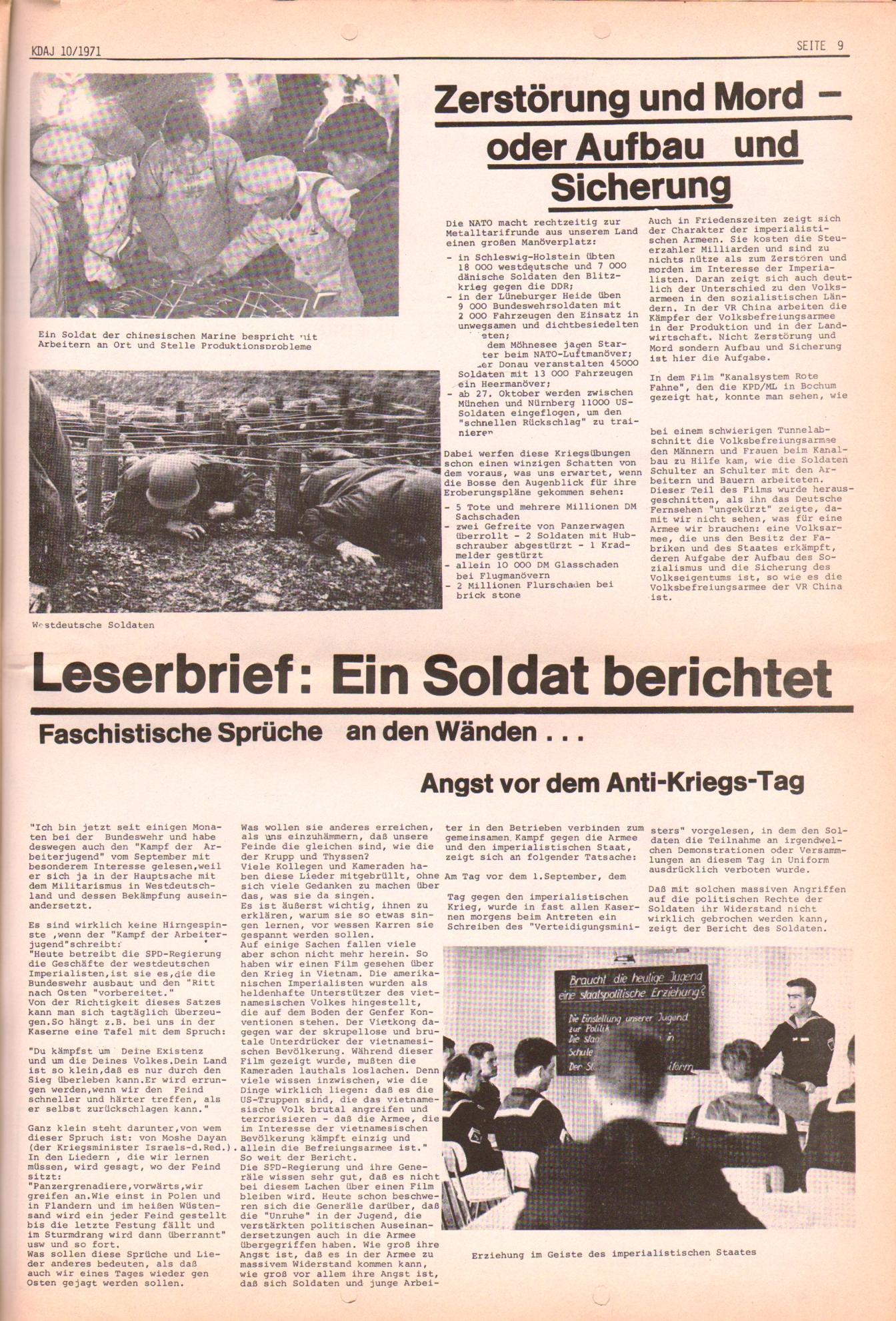 KDAJ, 2. Jg., Oktober 1971, Nr. 10, Seite 9