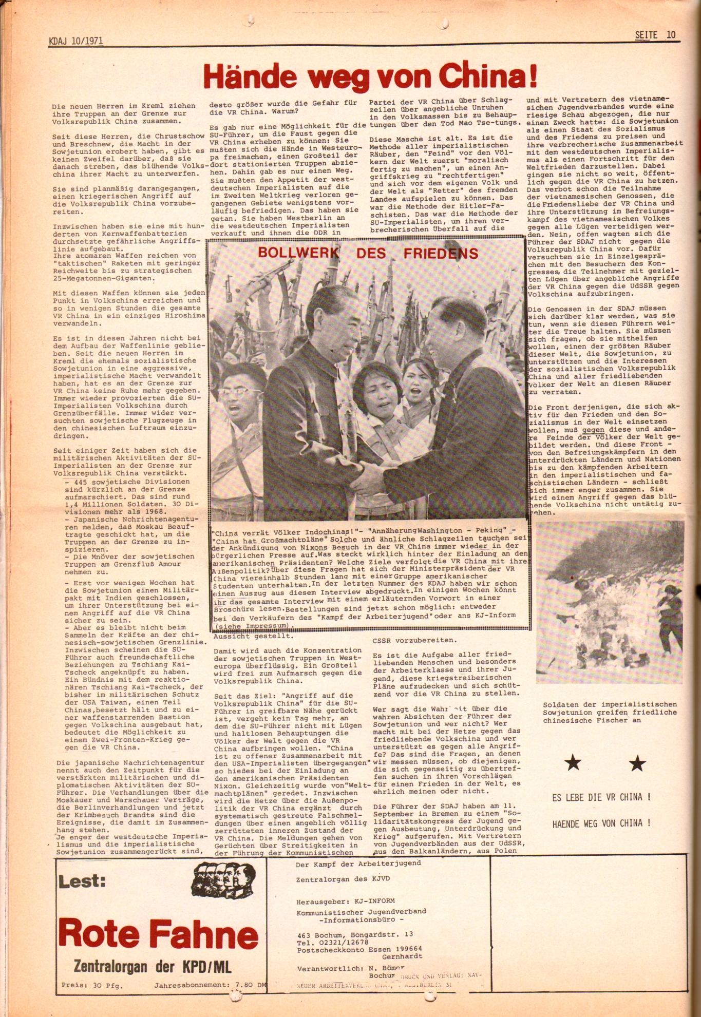 KDAJ, 2. Jg., Oktober 1971, Nr. 10, Seite 10